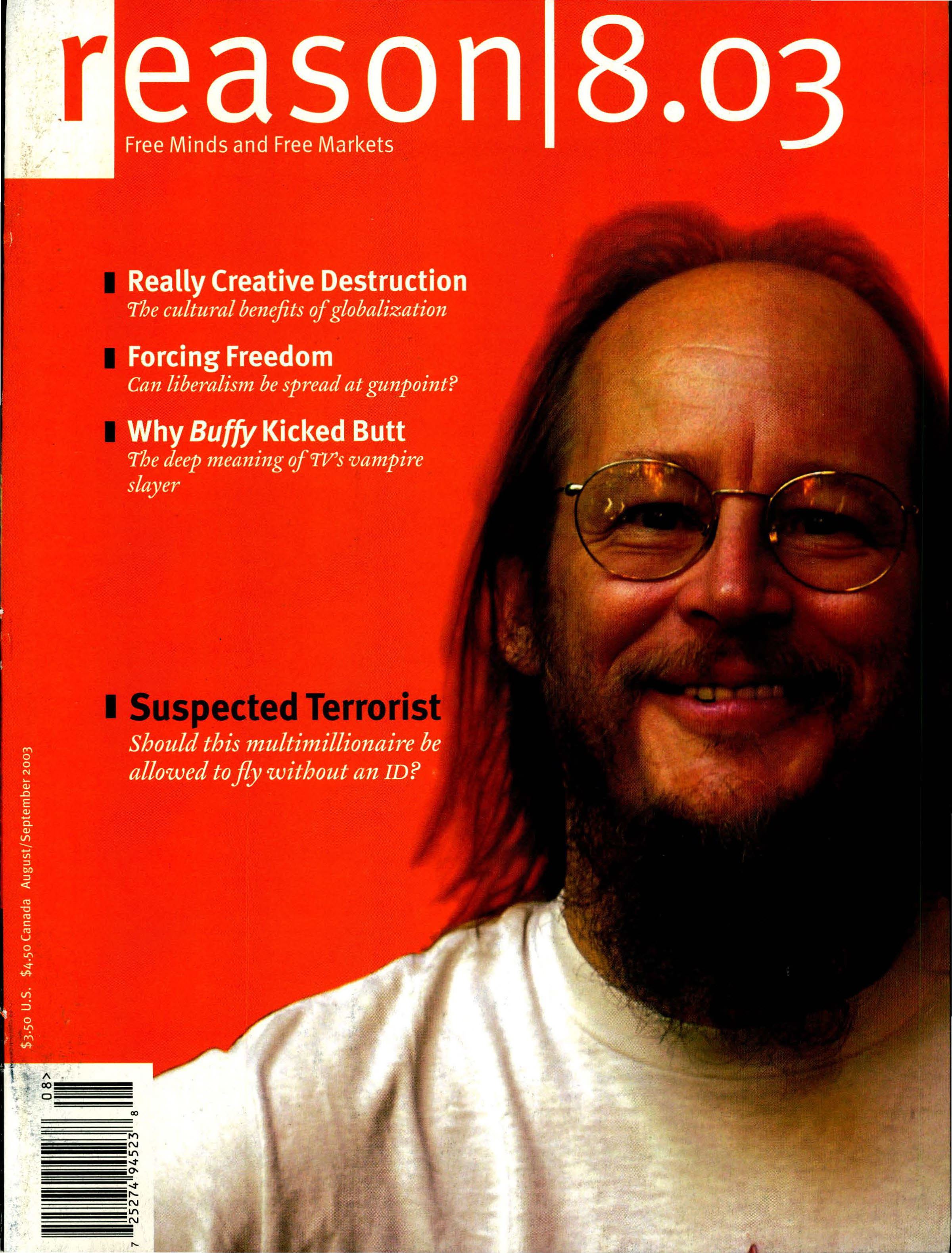 Reason Magazine, August/September 2003 cover image