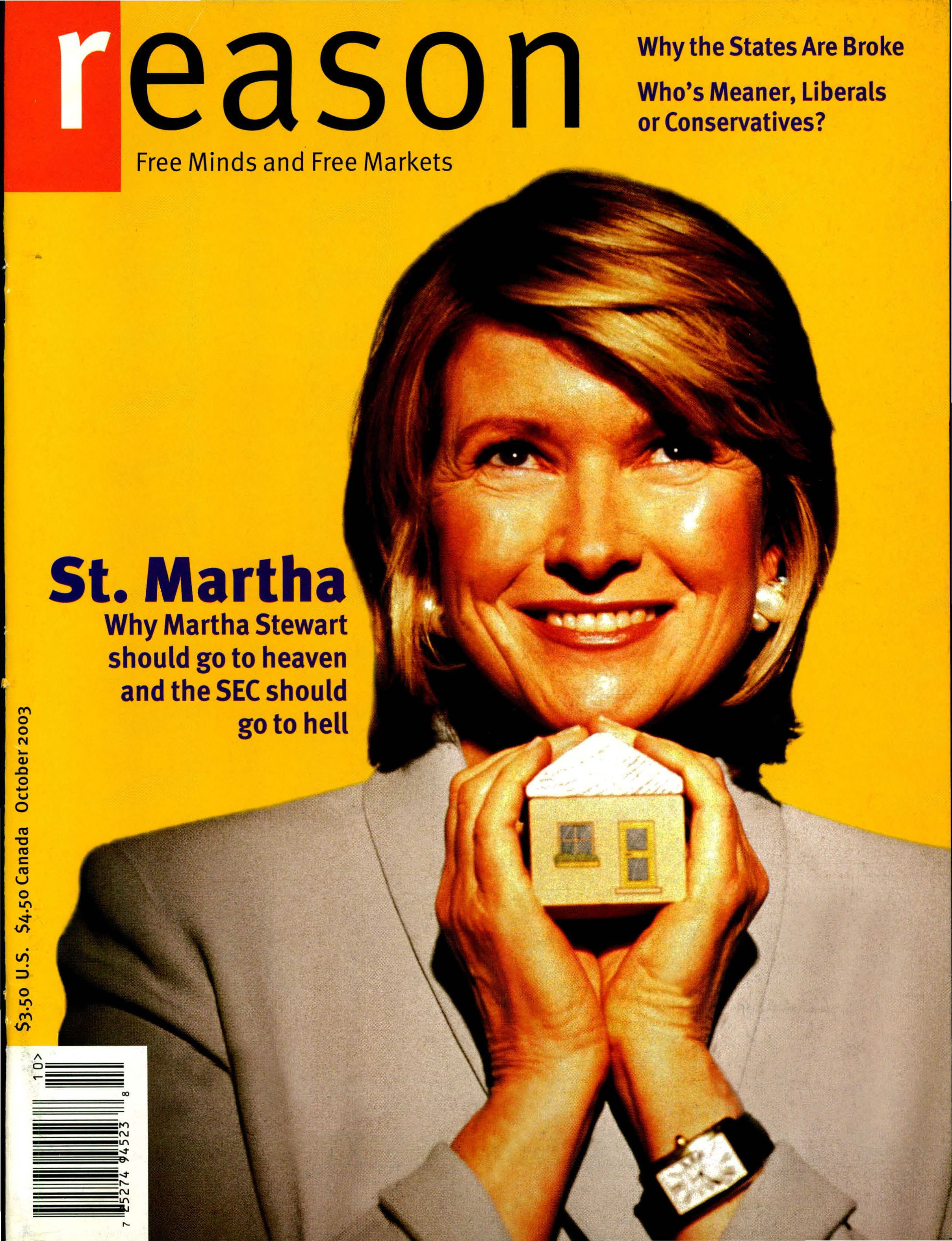 Reason Magazine, October 2003 cover image