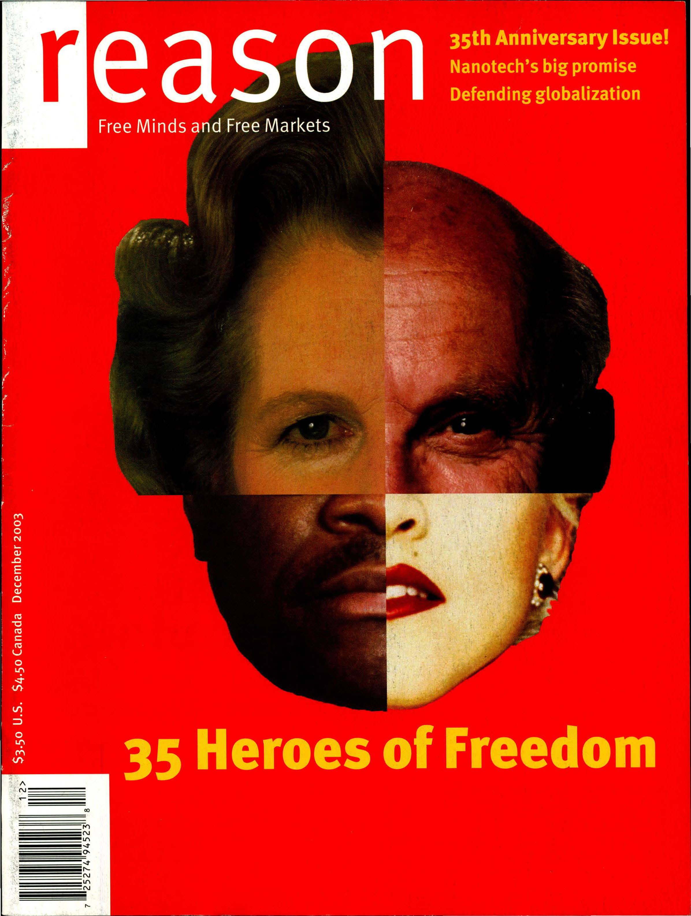 Reason Magazine, December 2003 cover image