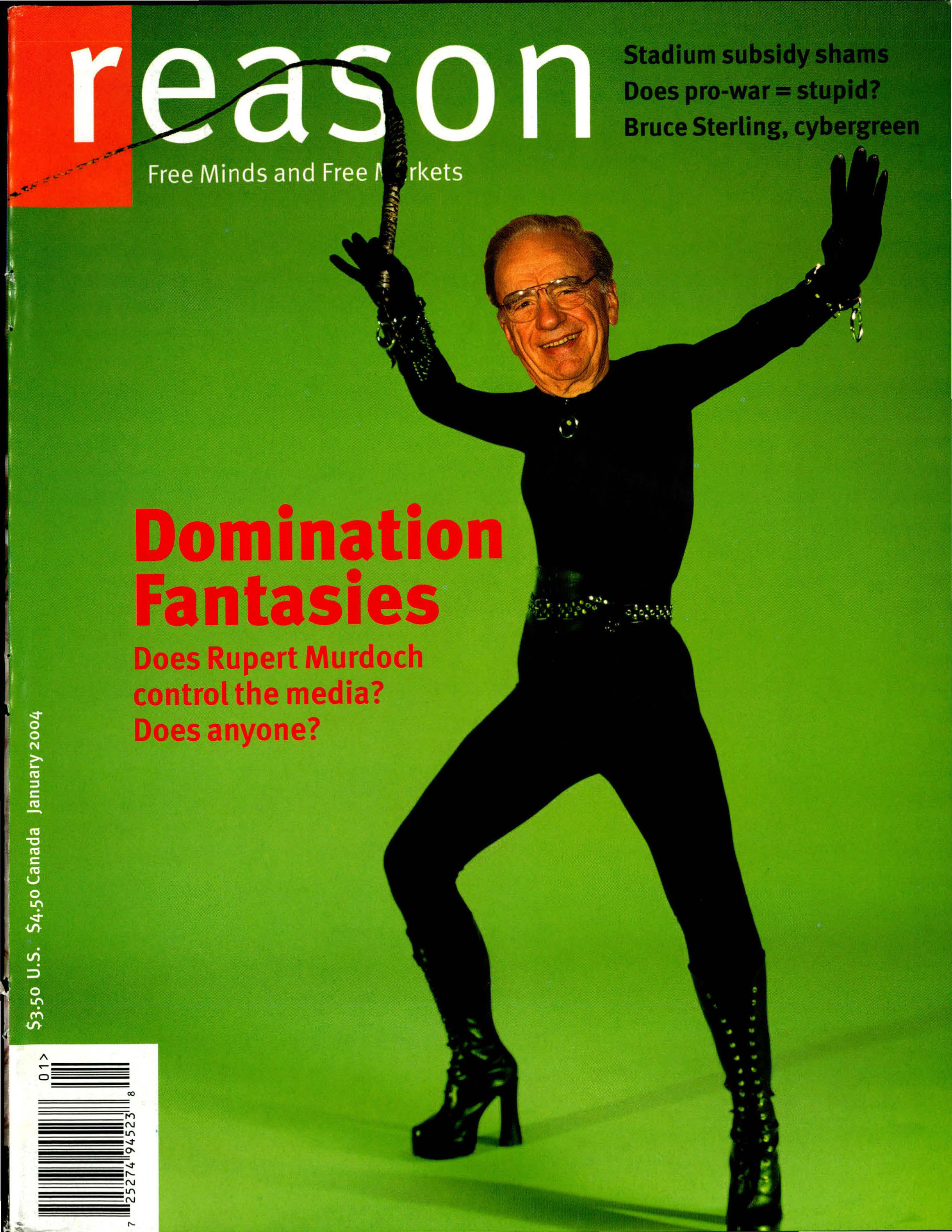 Reason Magazine, January 2004 cover image