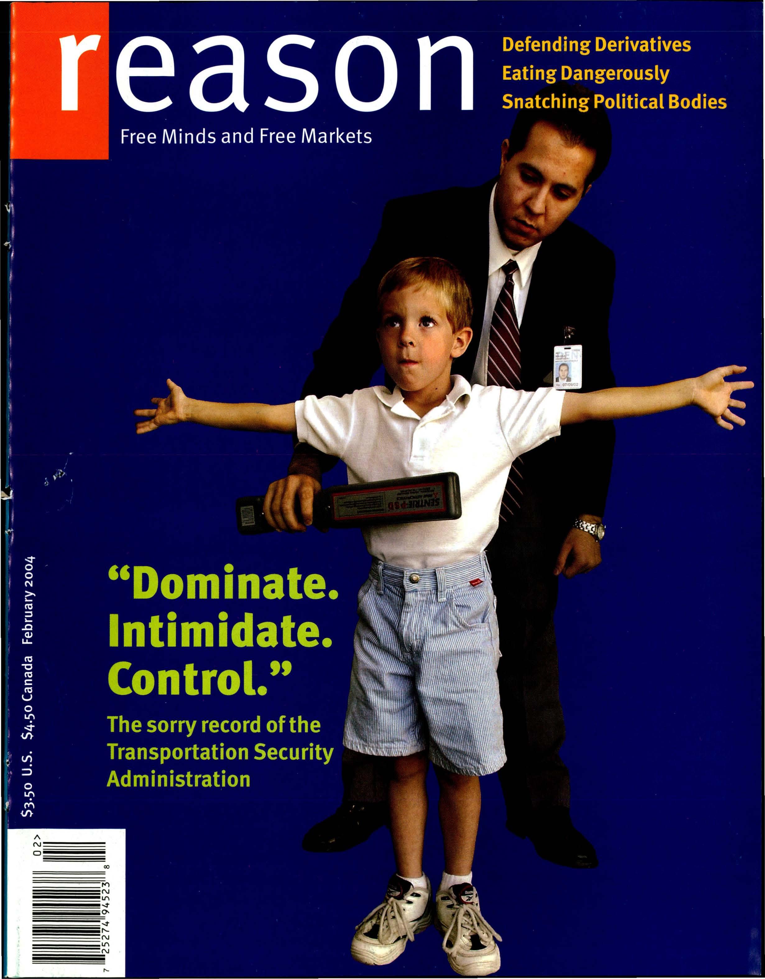 Reason Magazine, February 2004 cover image
