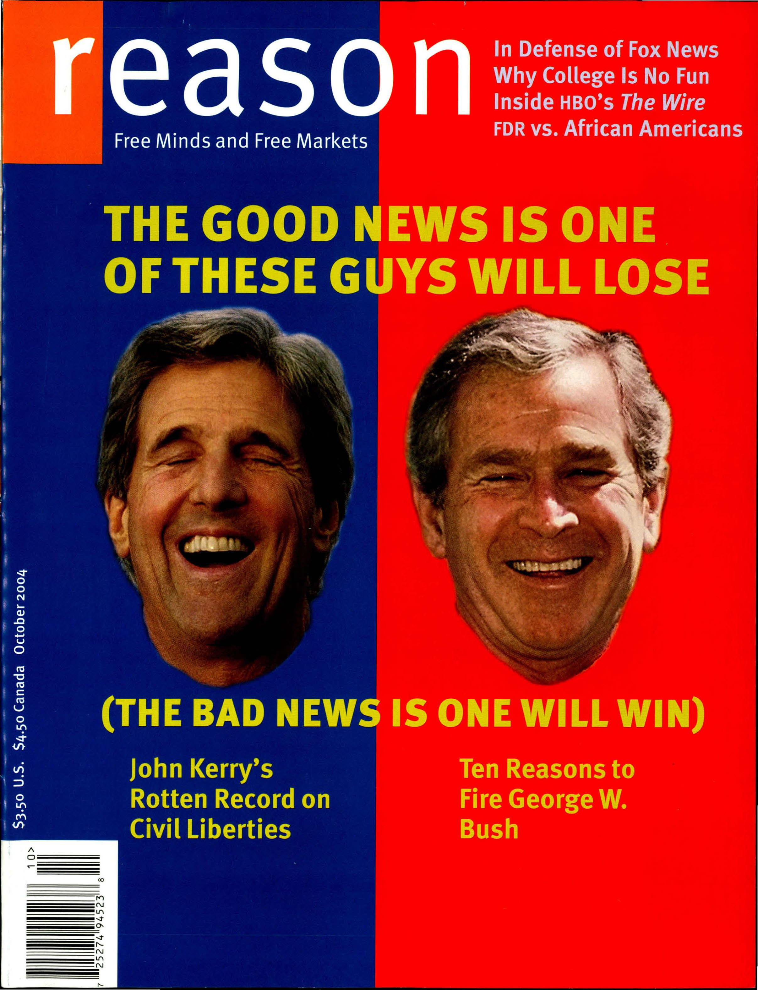 Reason Magazine, October 2004 cover image