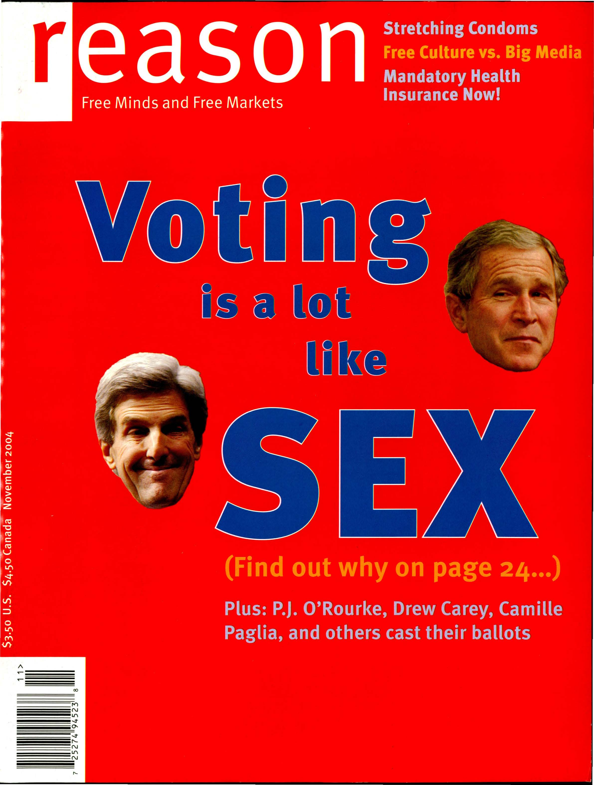 Reason Magazine, November 2004 cover image