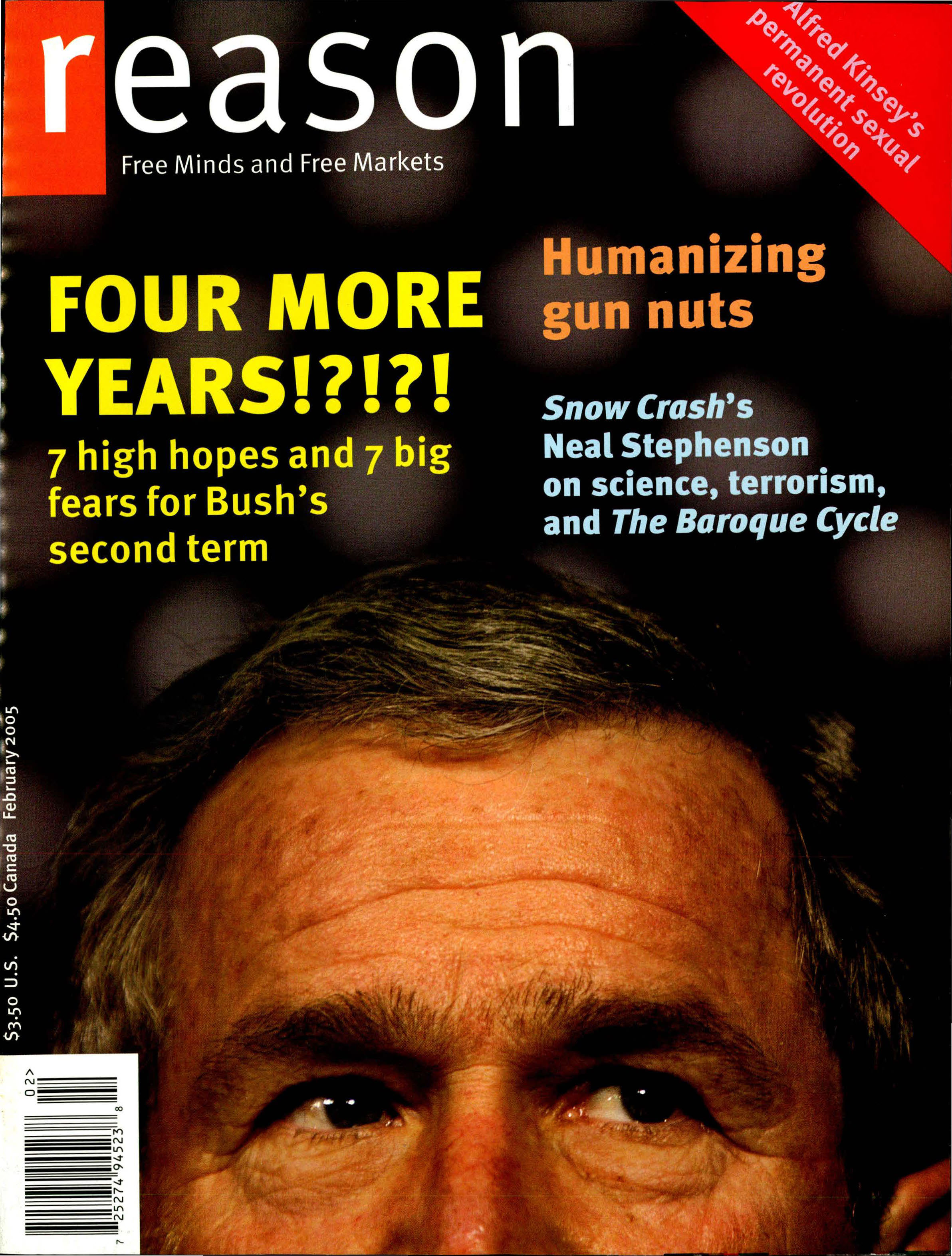 Reason Magazine, February 2005 cover image