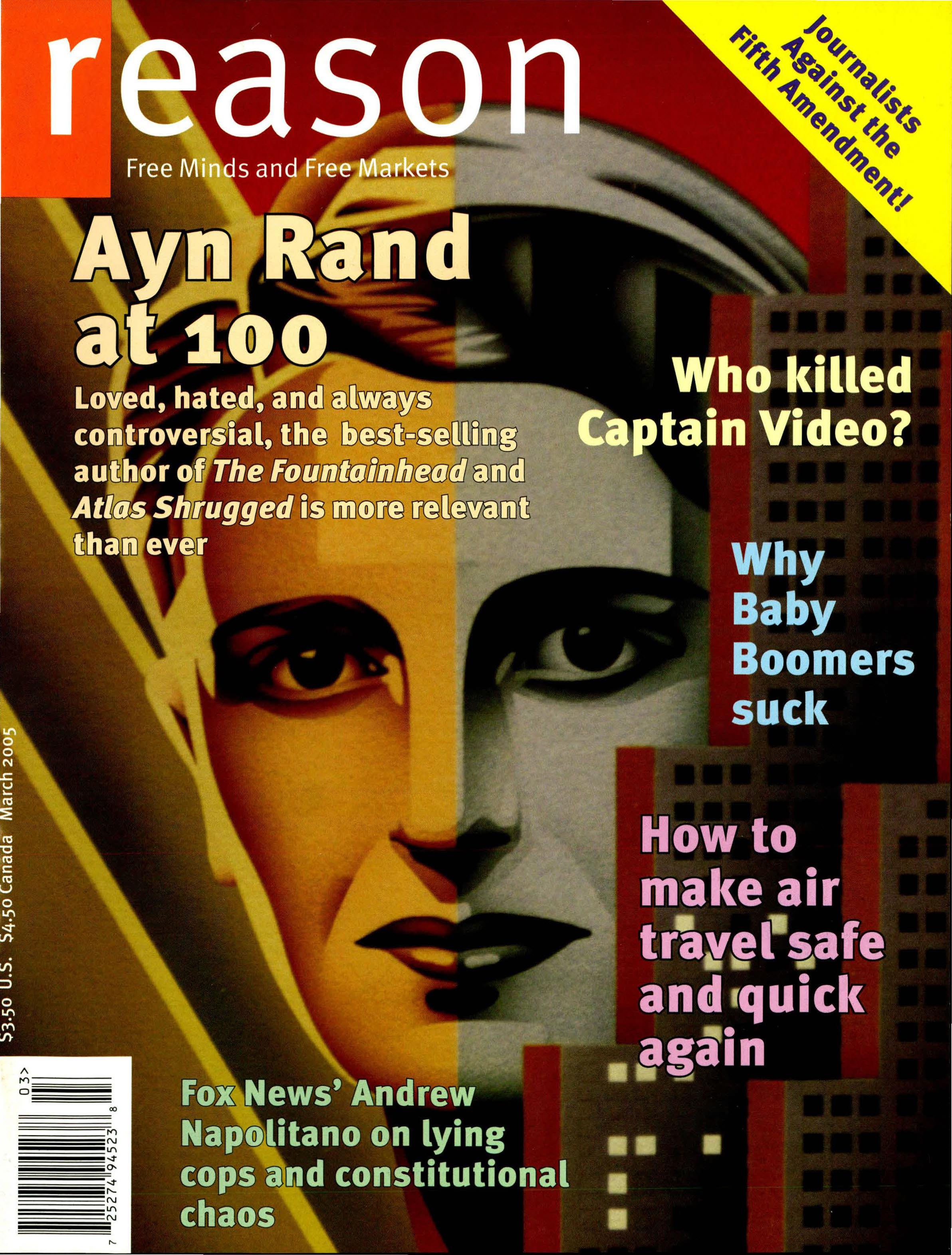 Reason Magazine, March 2005 cover image