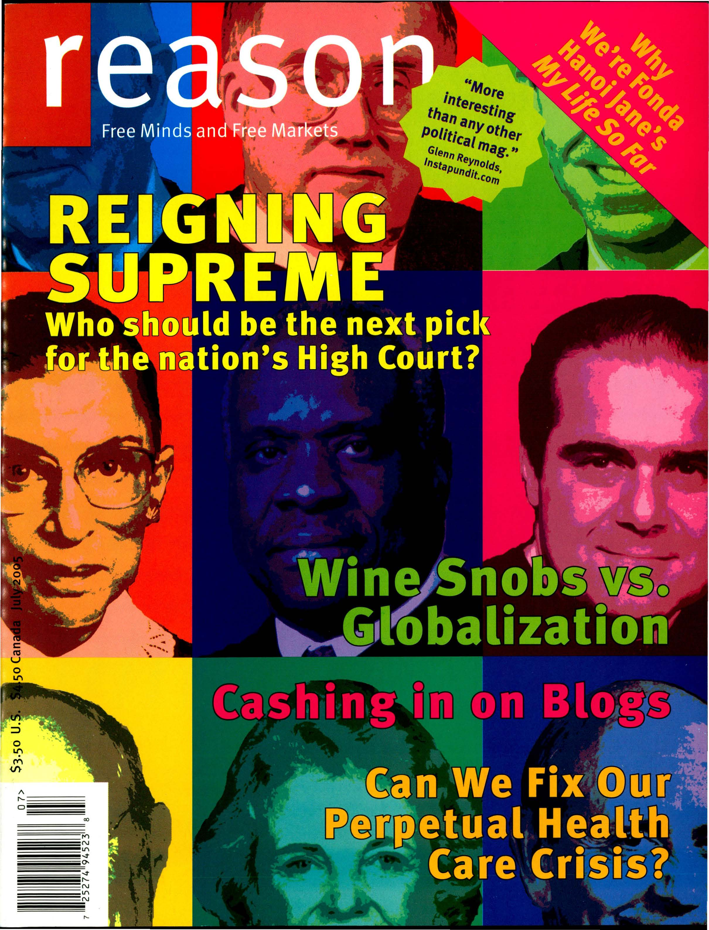 Reason Magazine, July 2005 cover image