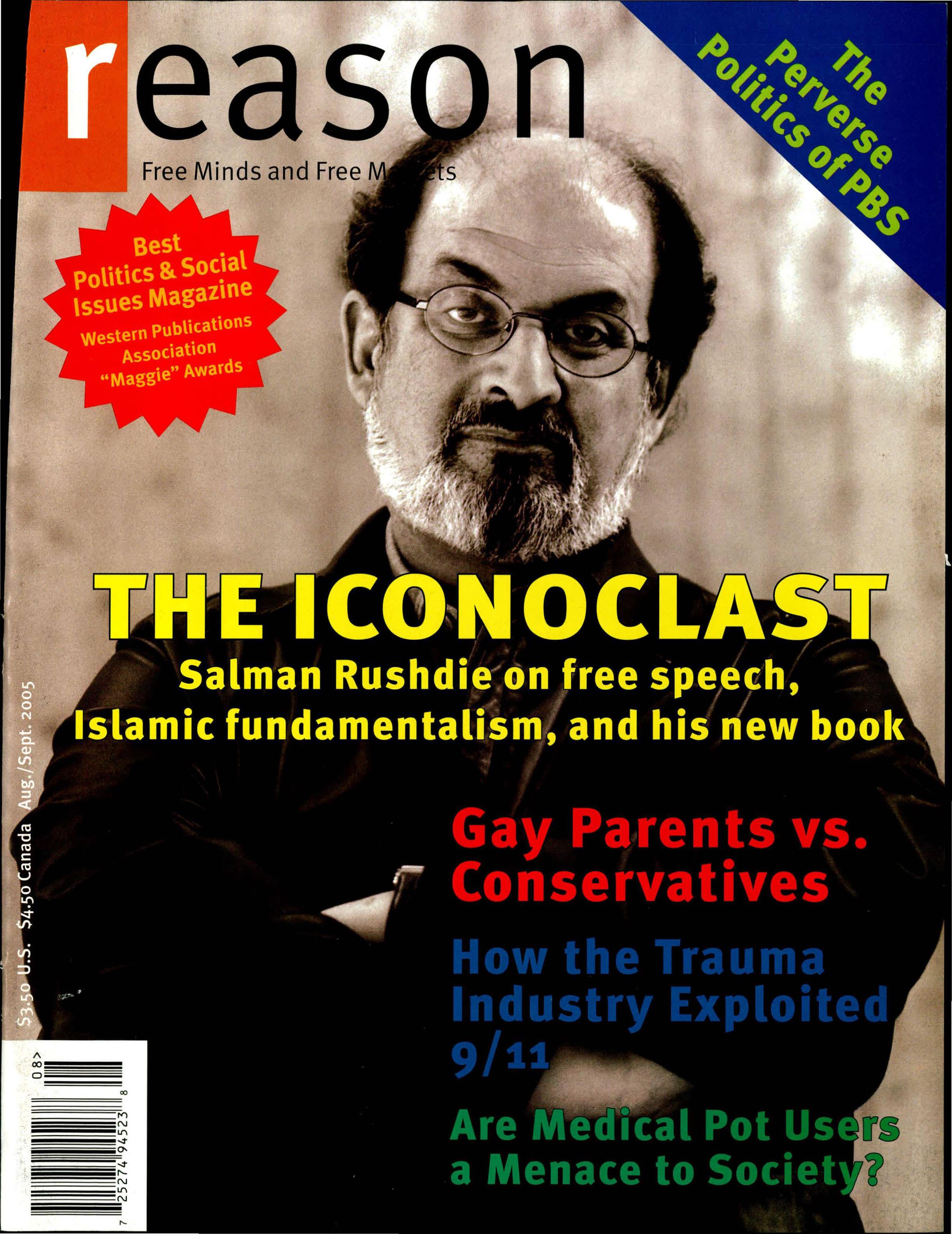 Reason Magazine, August/September 2005 cover image
