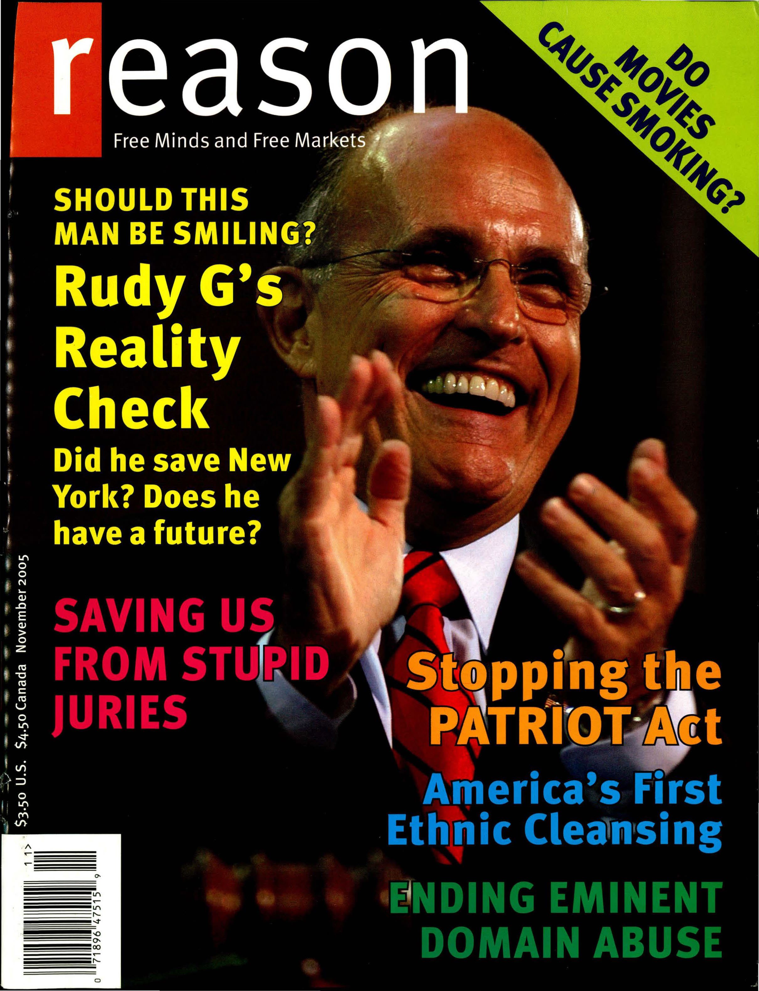 Reason Magazine, November 2005 cover image