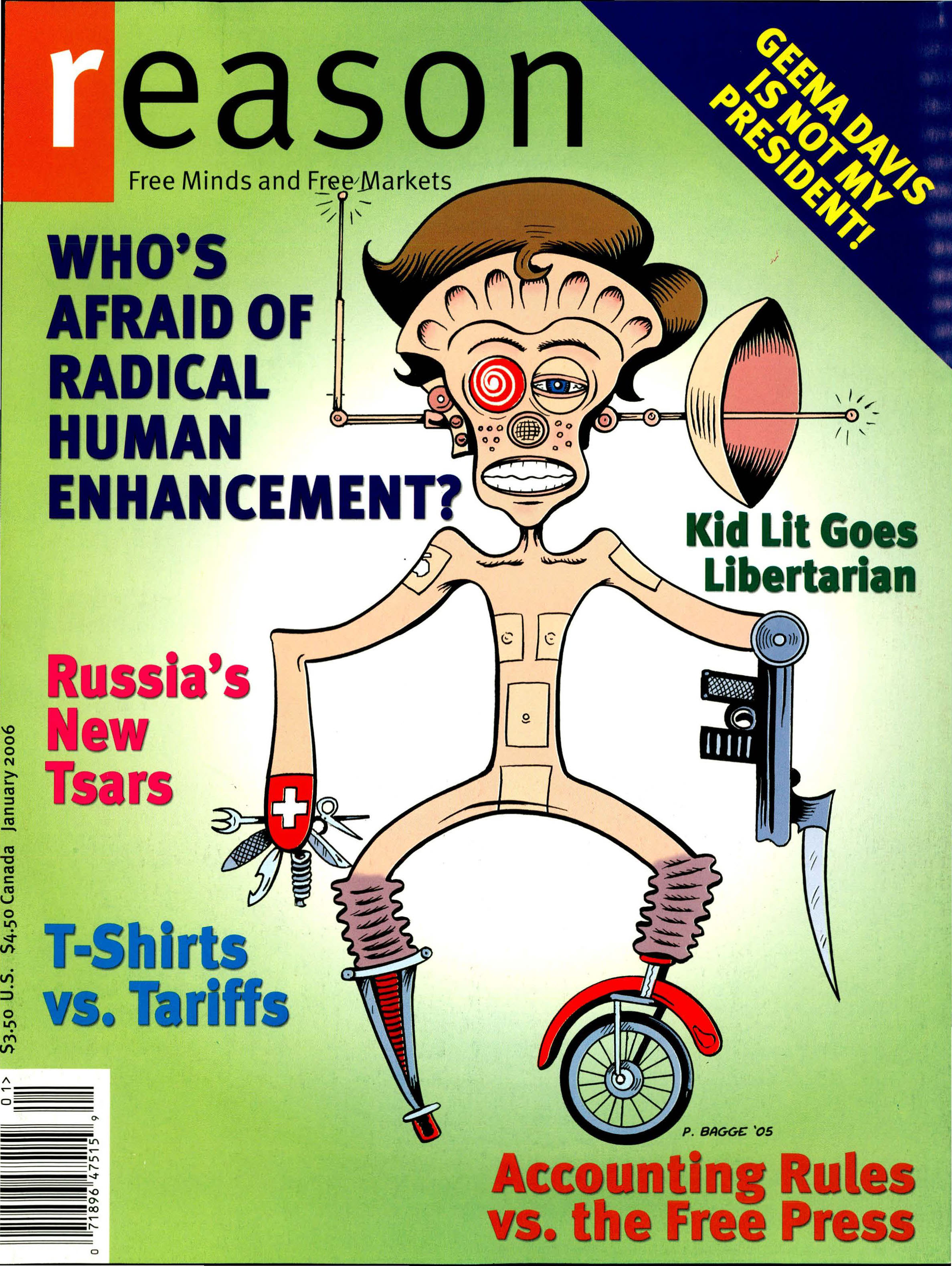 Reason Magazine, January 2006 cover image