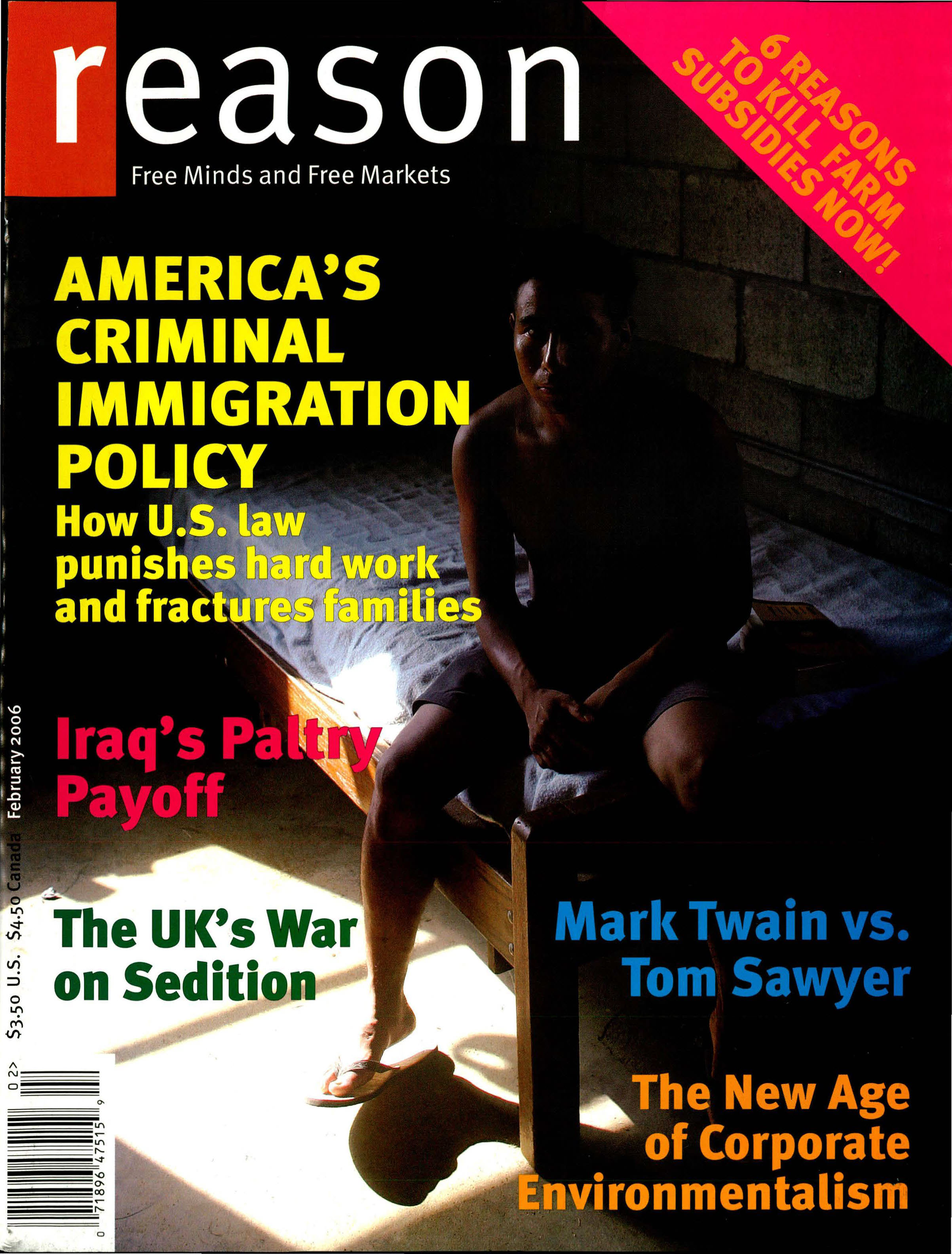 Reason Magazine, February 2006 cover image