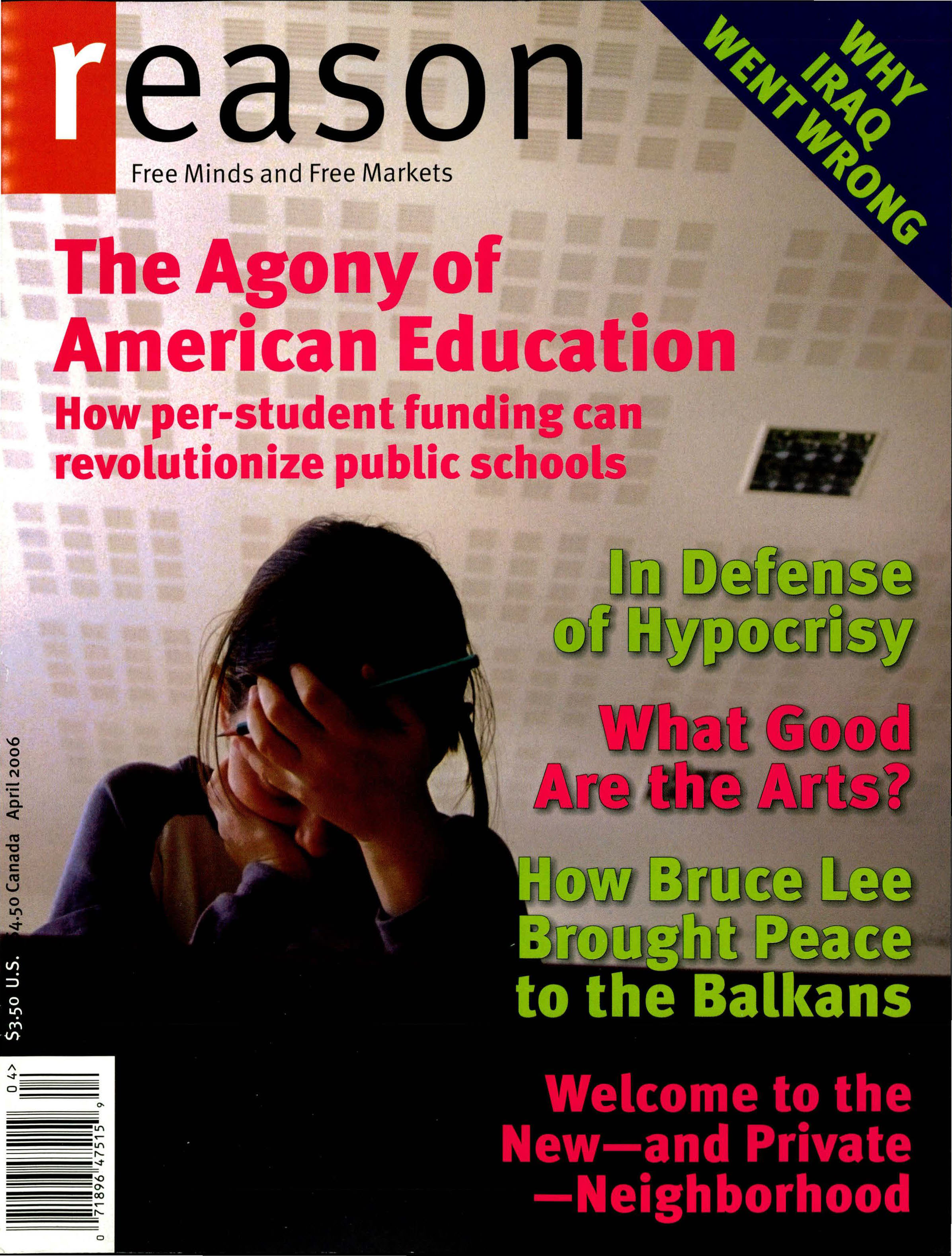Reason Magazine, April 2006 cover image