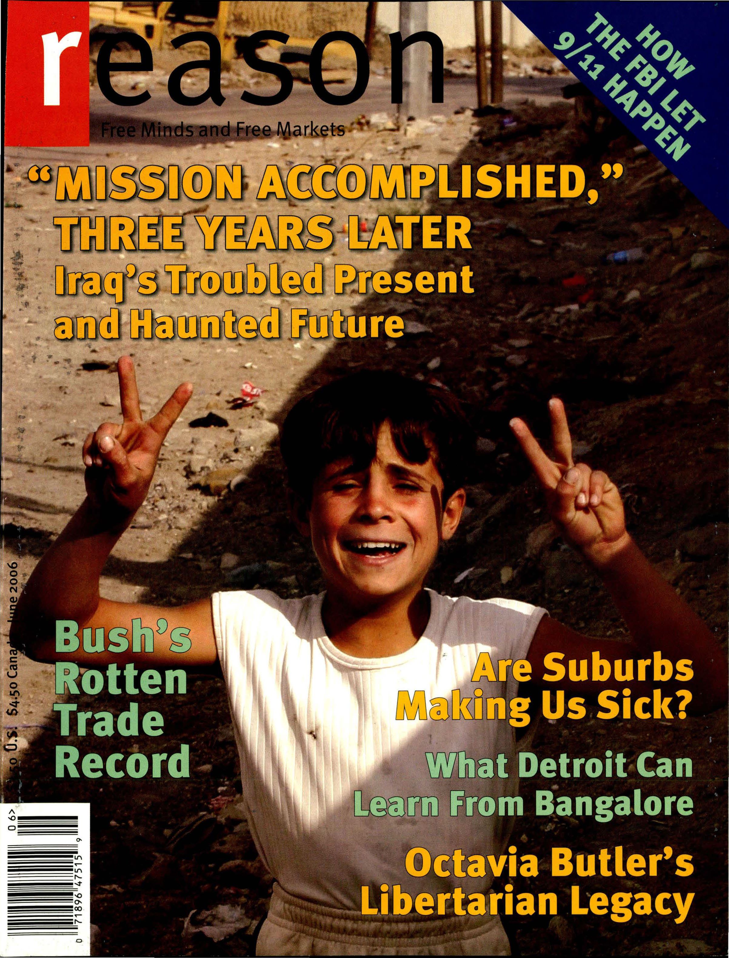 Reason Magazine, June 2006 cover image