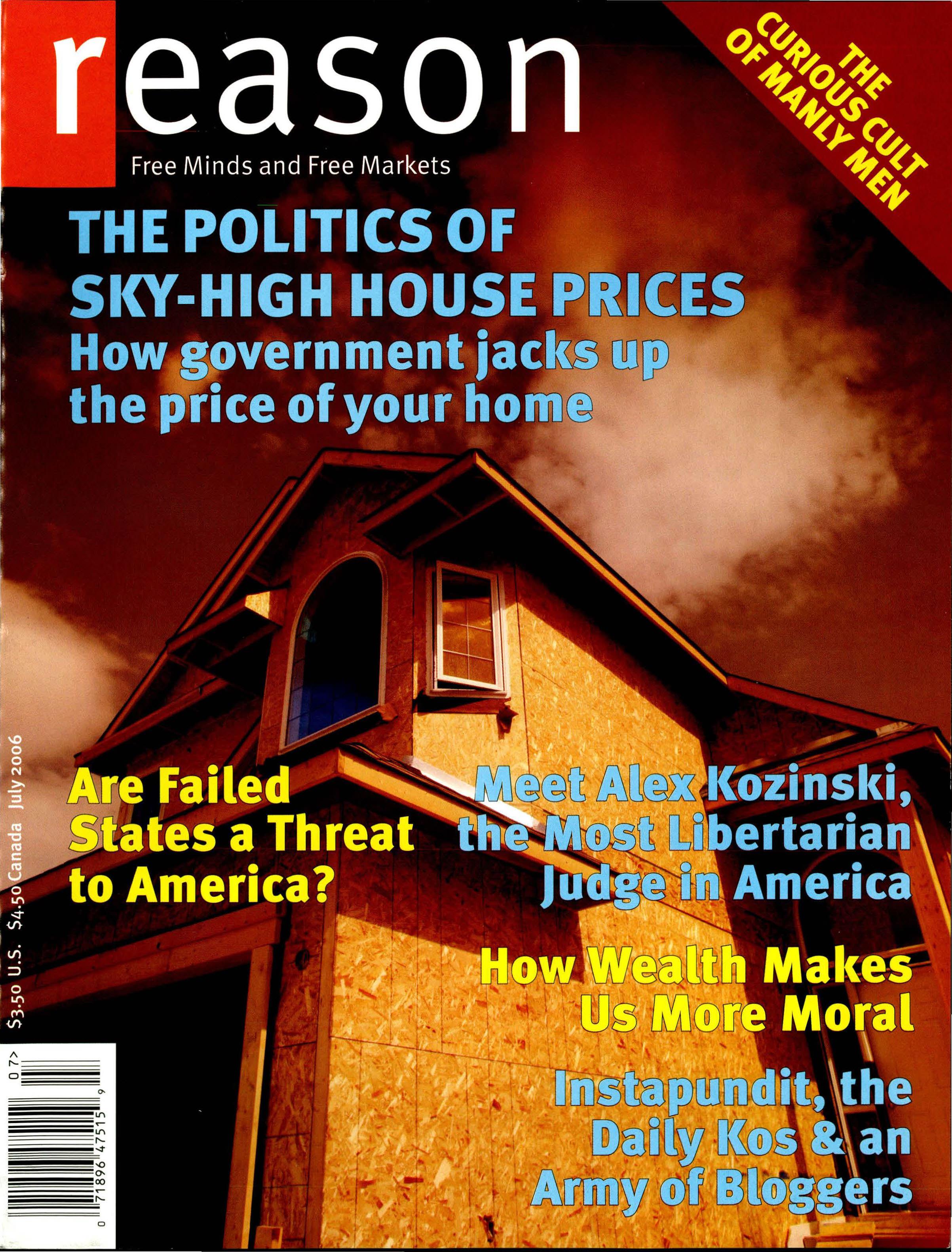 Reason Magazine, July 2006 cover image