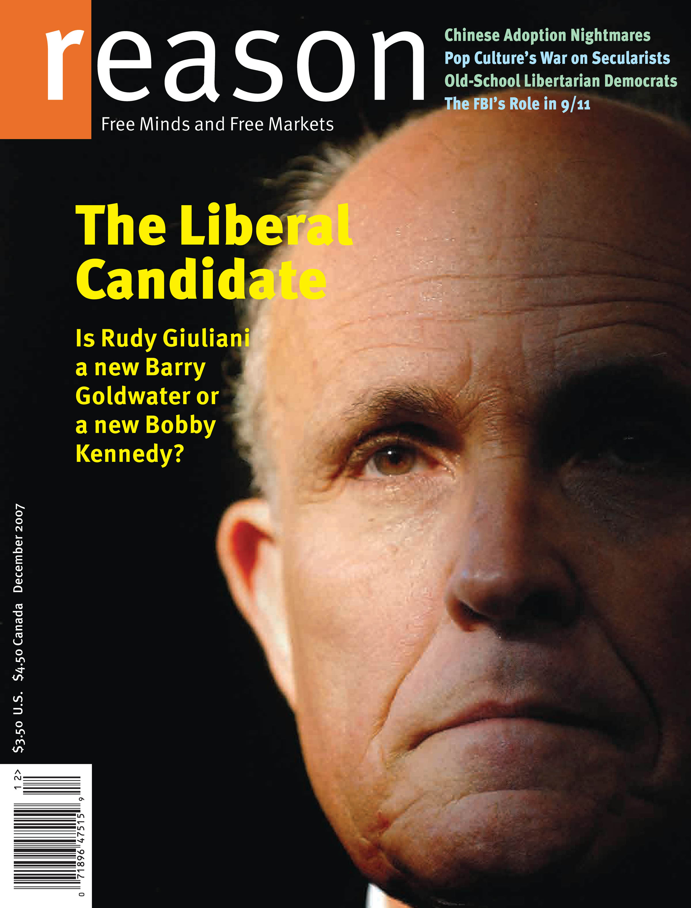 Reason Magazine, December 2007 cover image