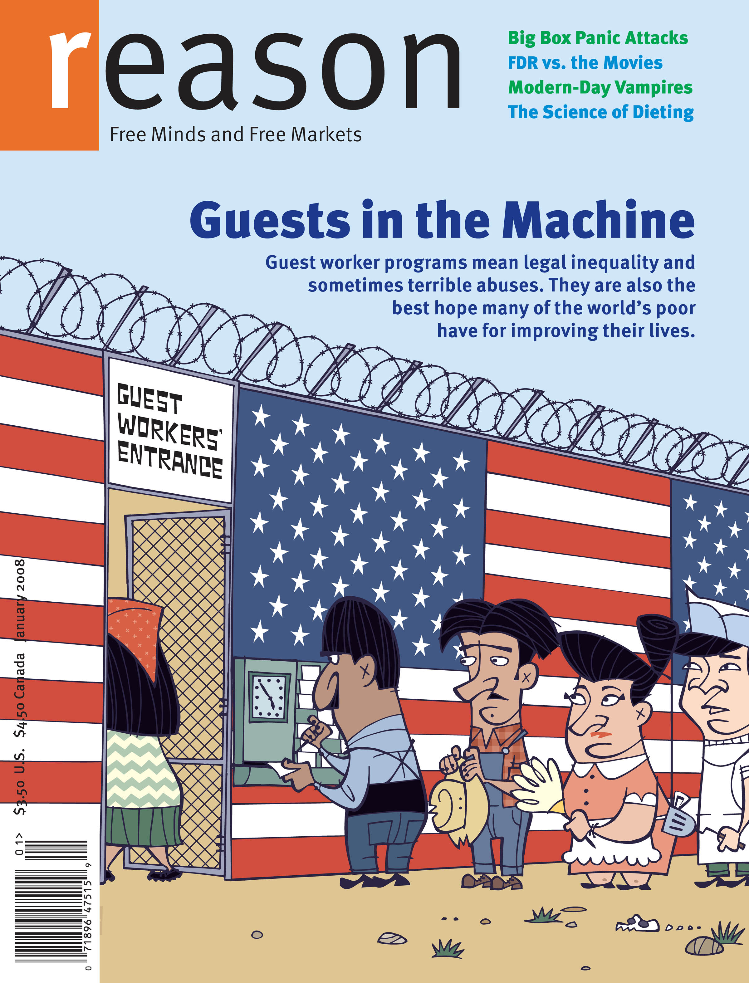 Reason Magazine, January 2008 cover image