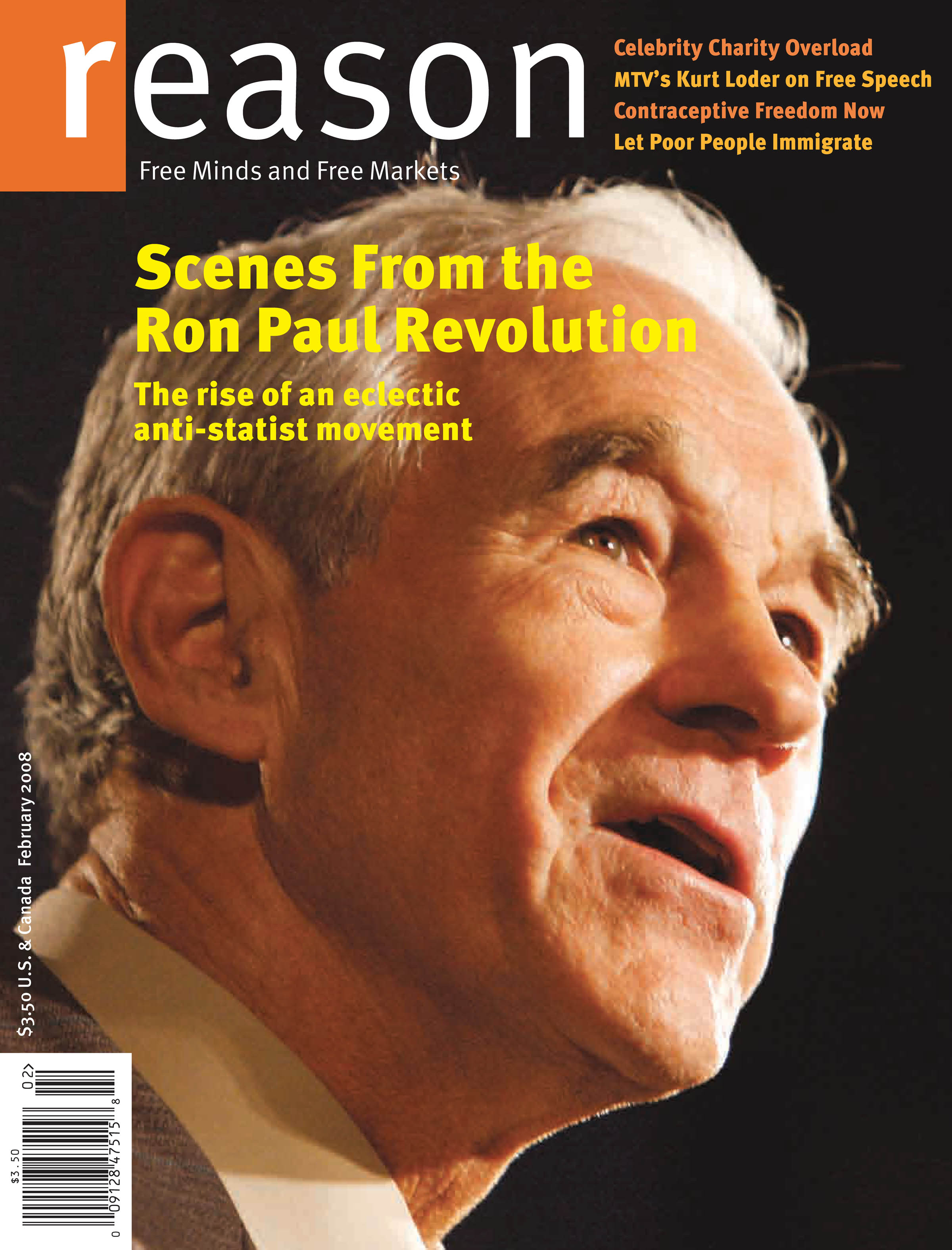 Reason Magazine, February 2008 cover image