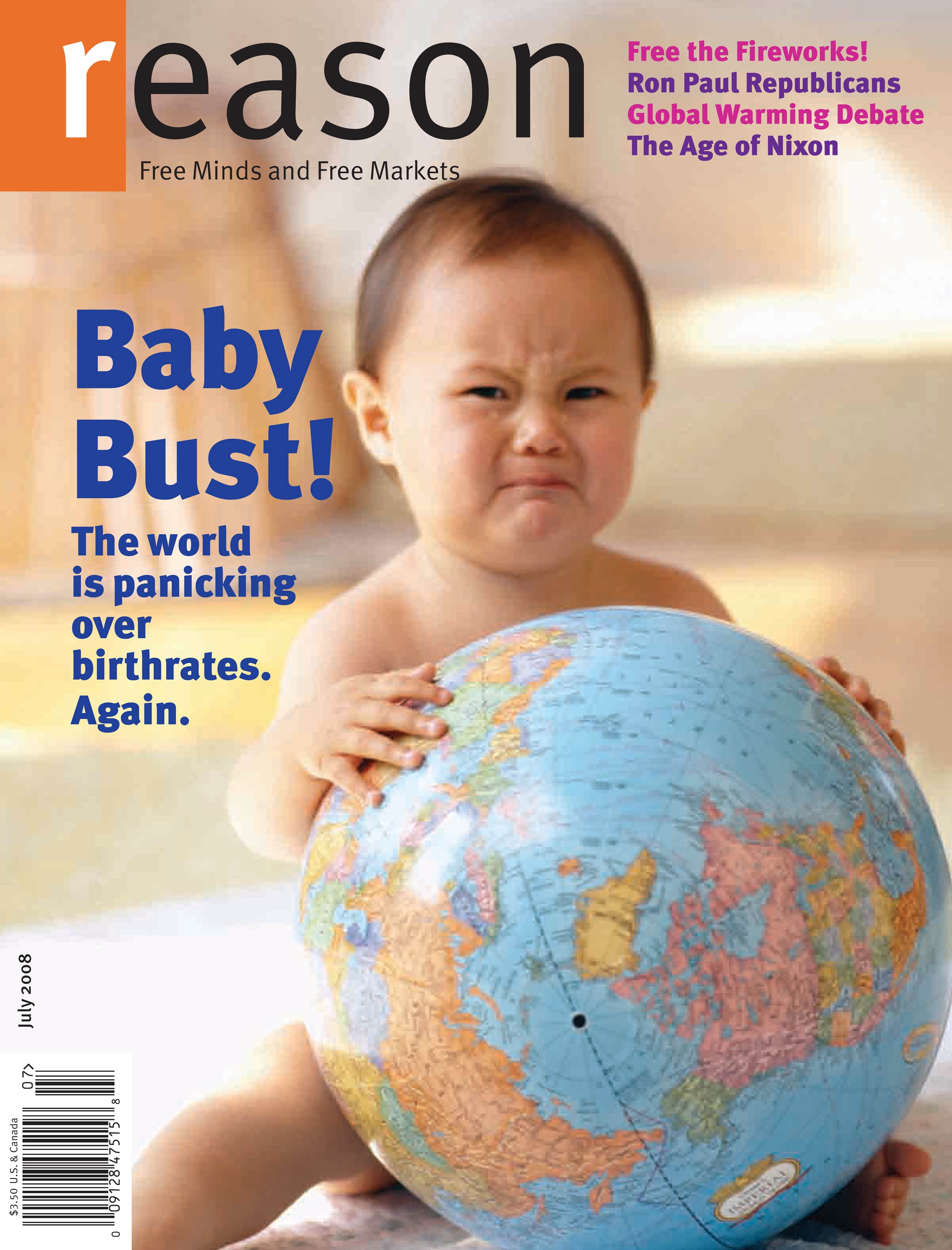 Reason Magazine, July 2008 cover image