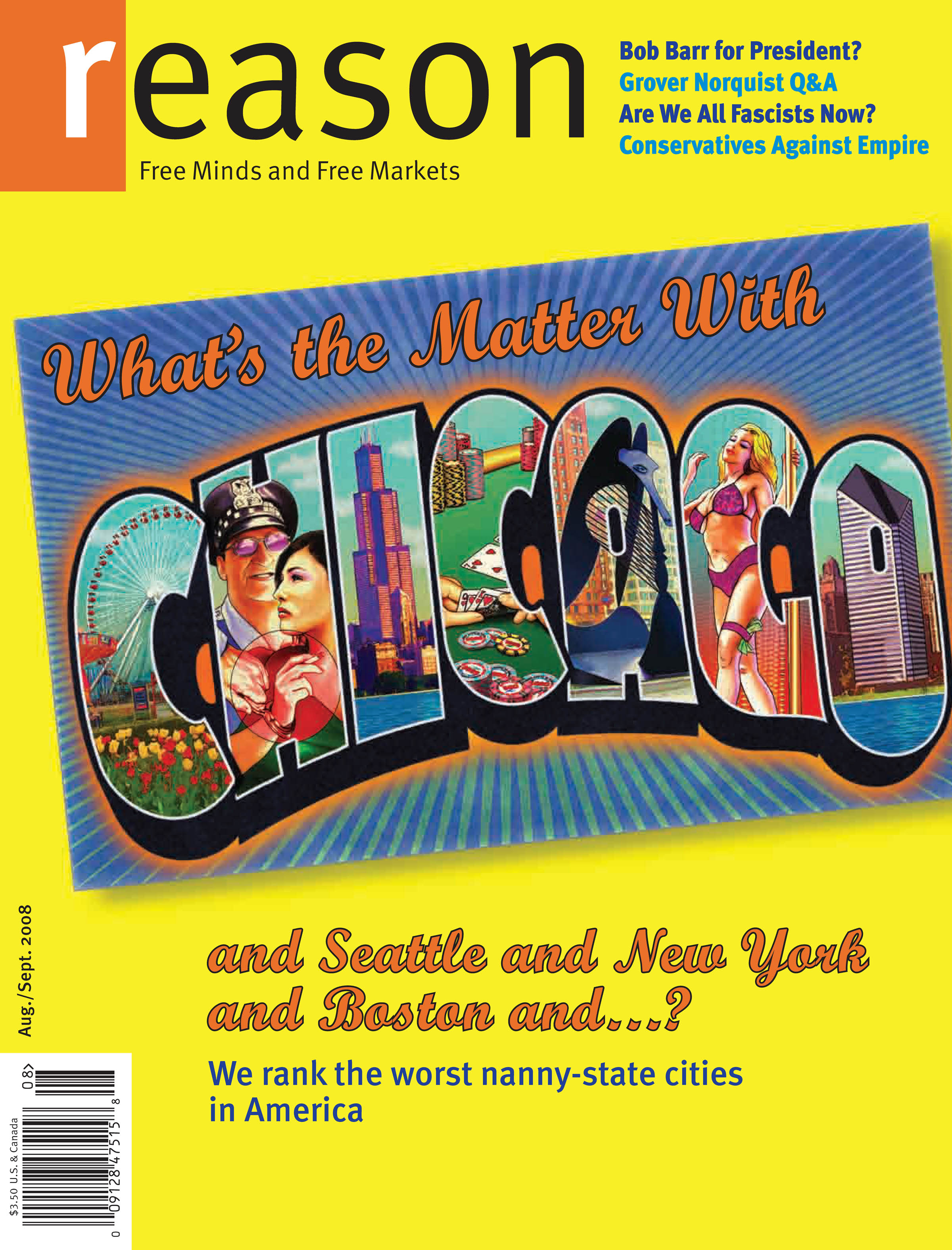 Reason Magazine, August/September 2008 cover image