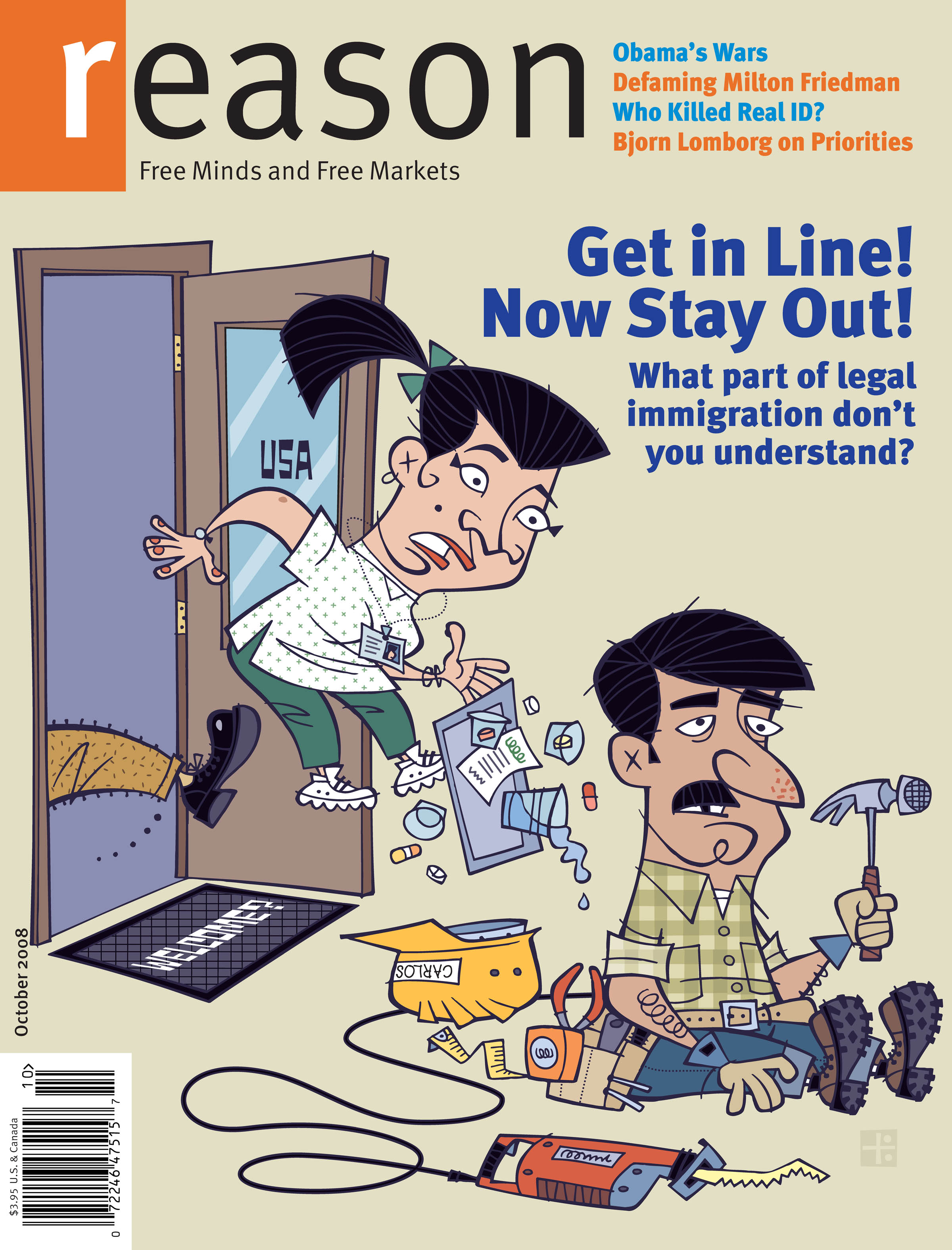 Reason Magazine, October 2008 cover image