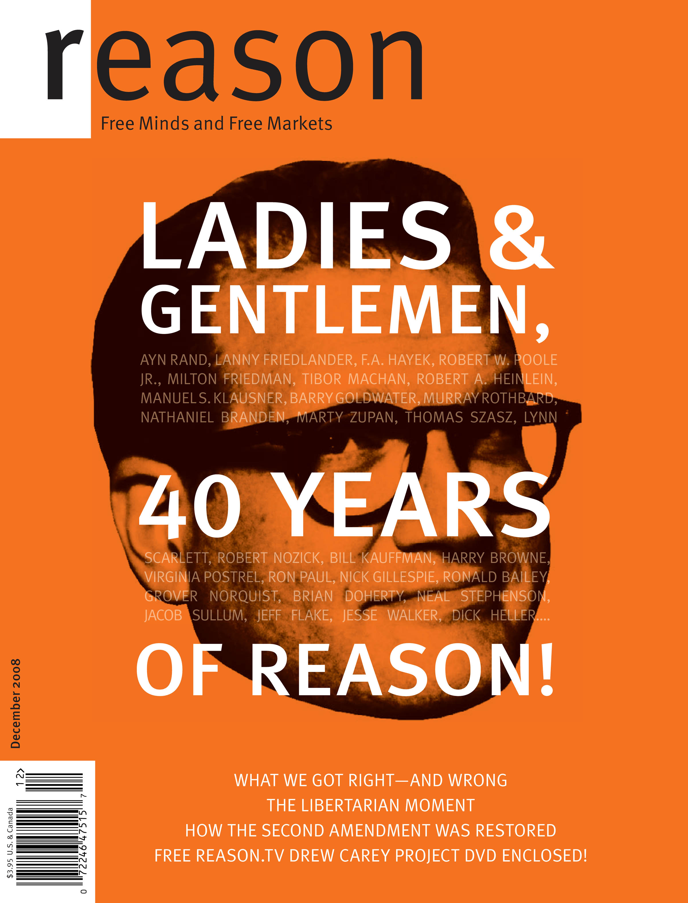 Reason Magazine, December 2008 cover image