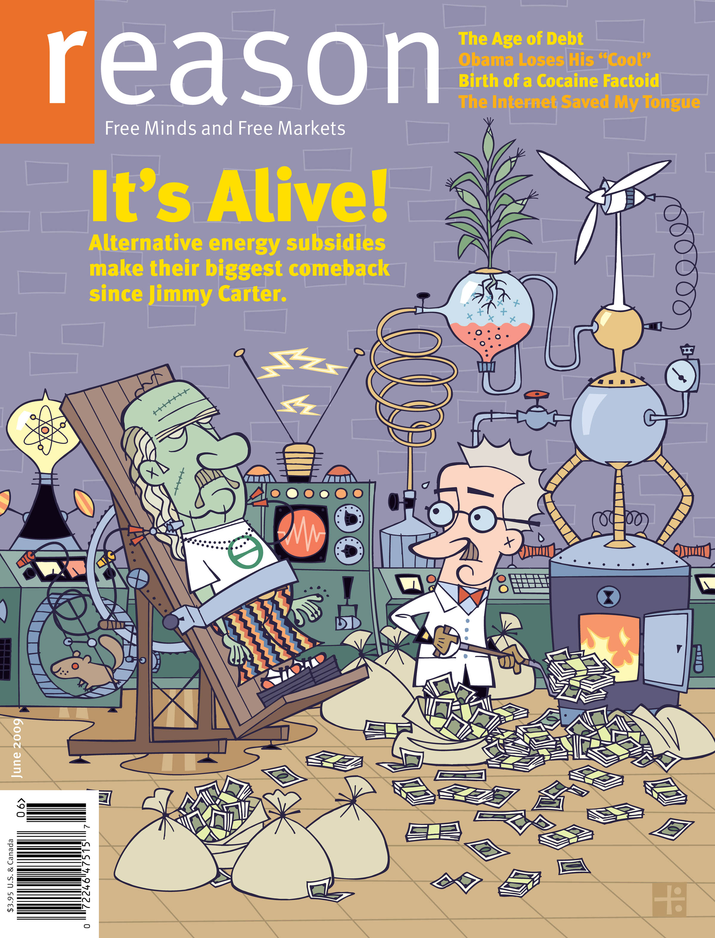 Reason Magazine, June 2009 cover image