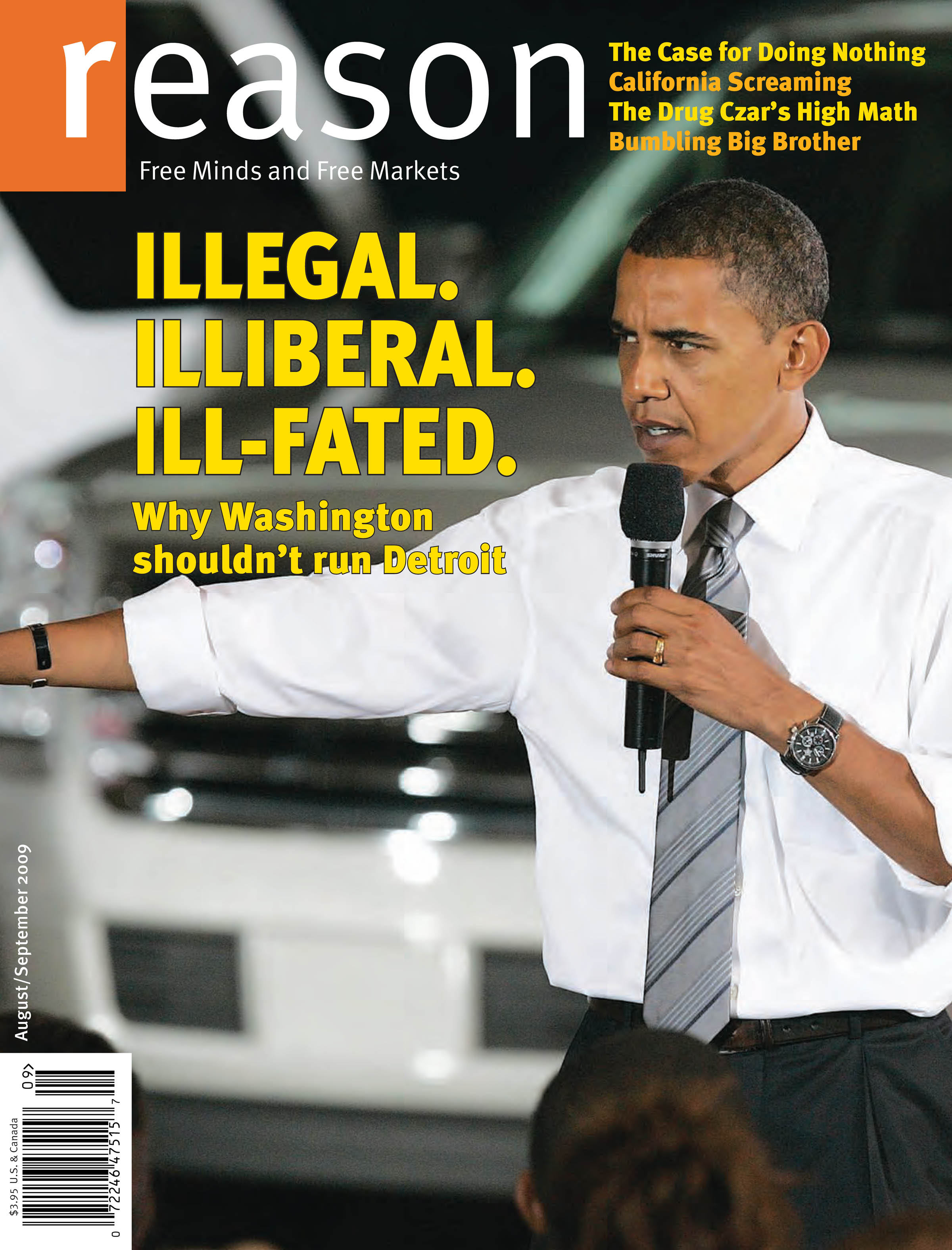 Reason Magazine, August/September 2009 cover image