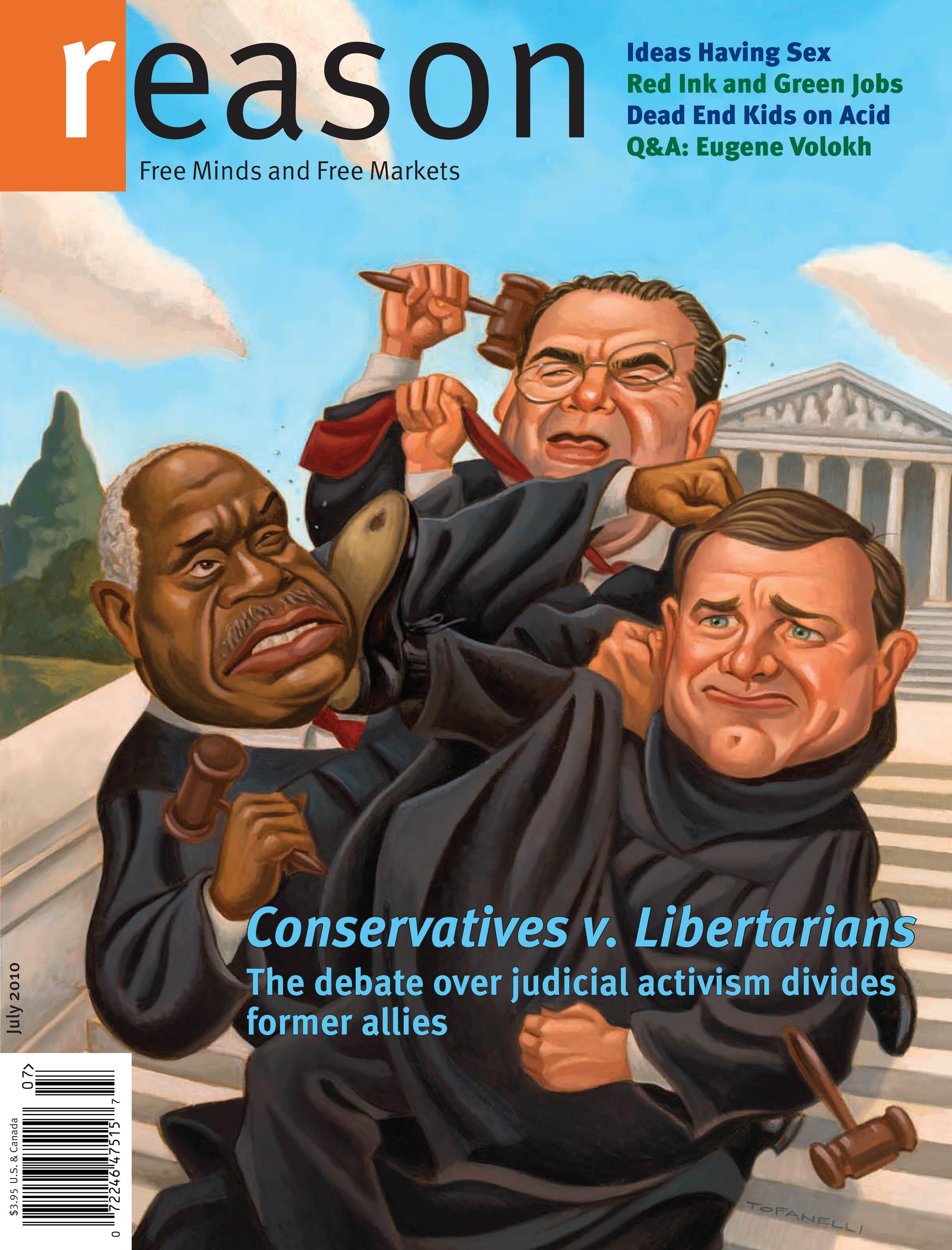 Reason Magazine, July 2010 cover image