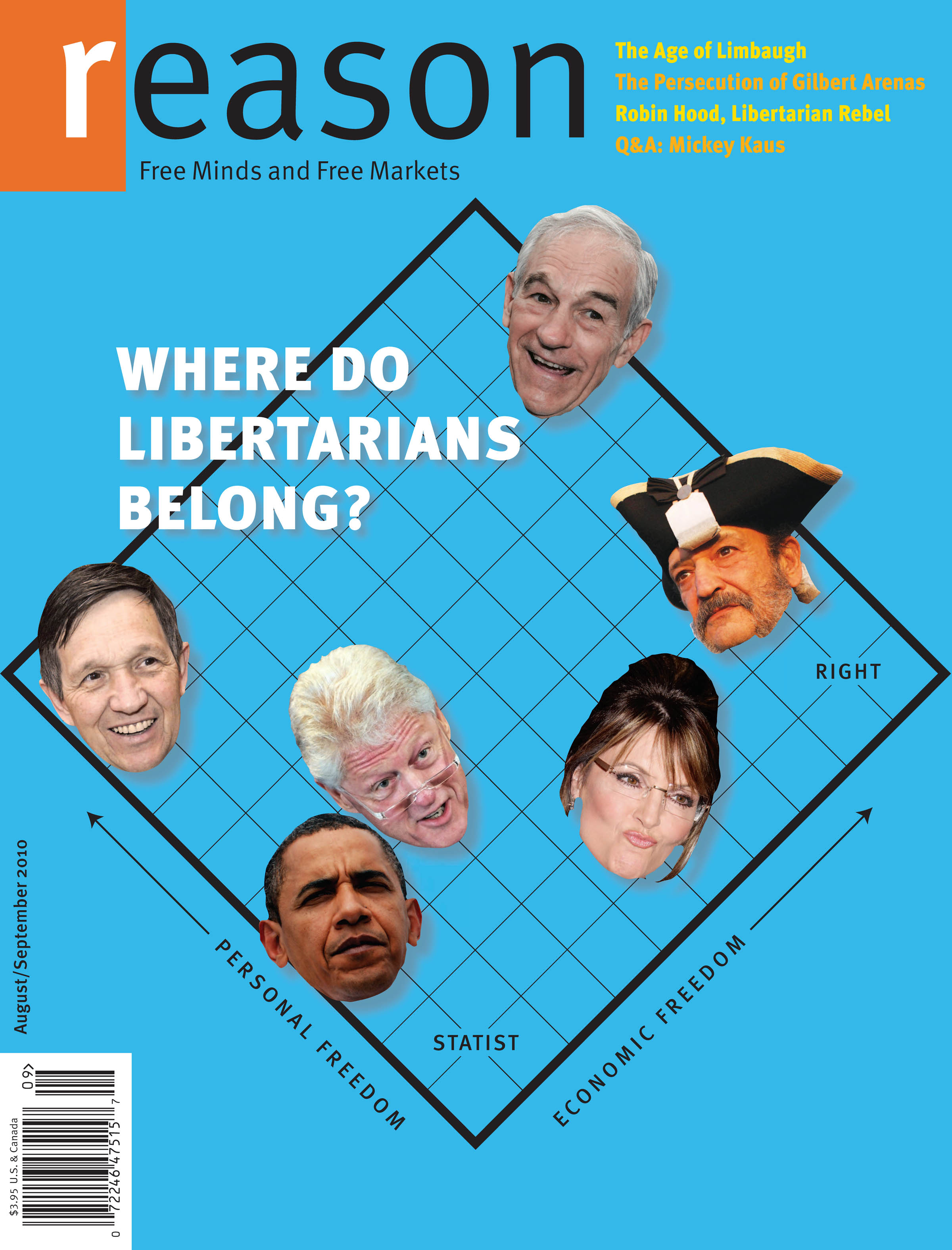 Reason Magazine, August-September 2010 cover image