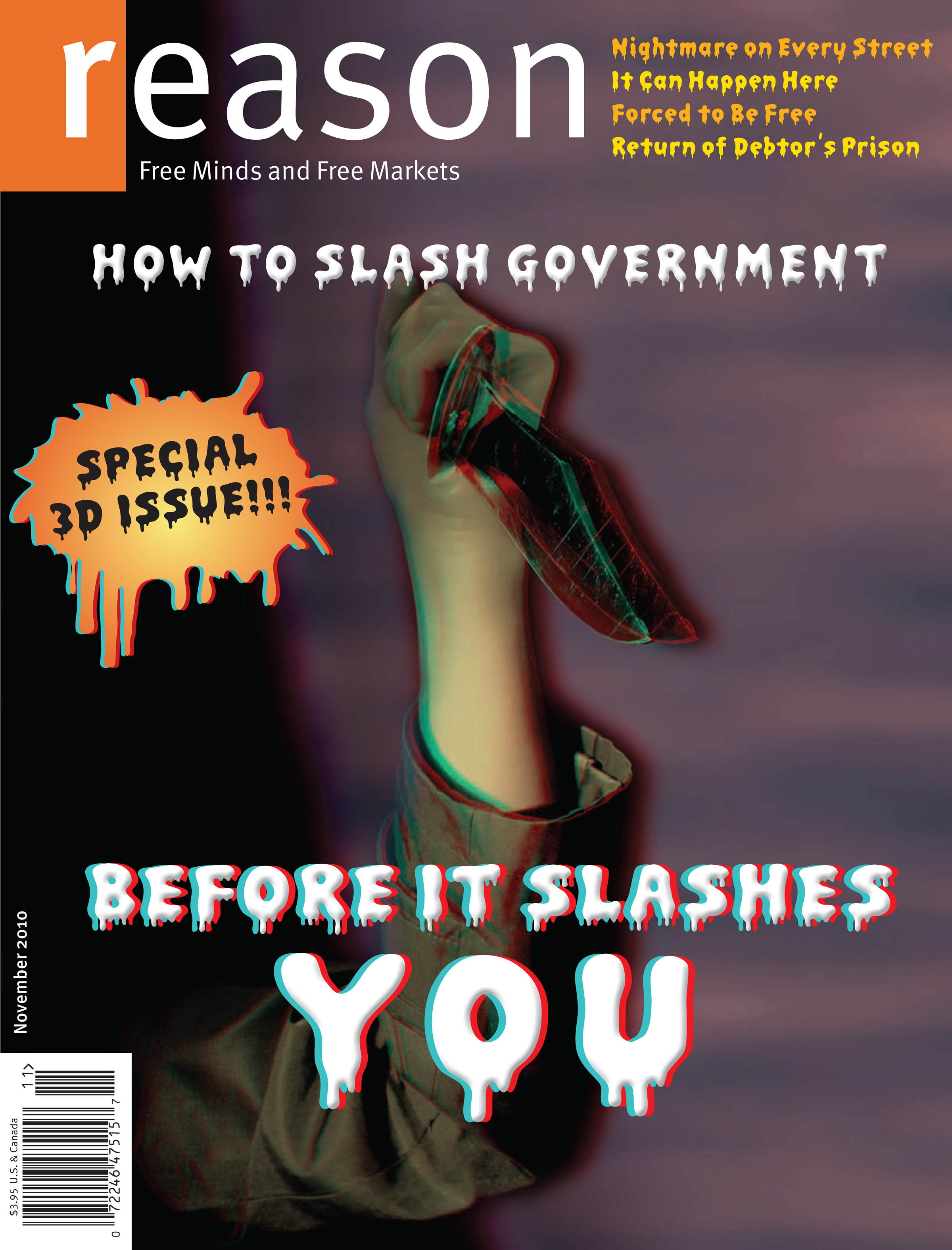 Reason Magazine, November 2010 cover image