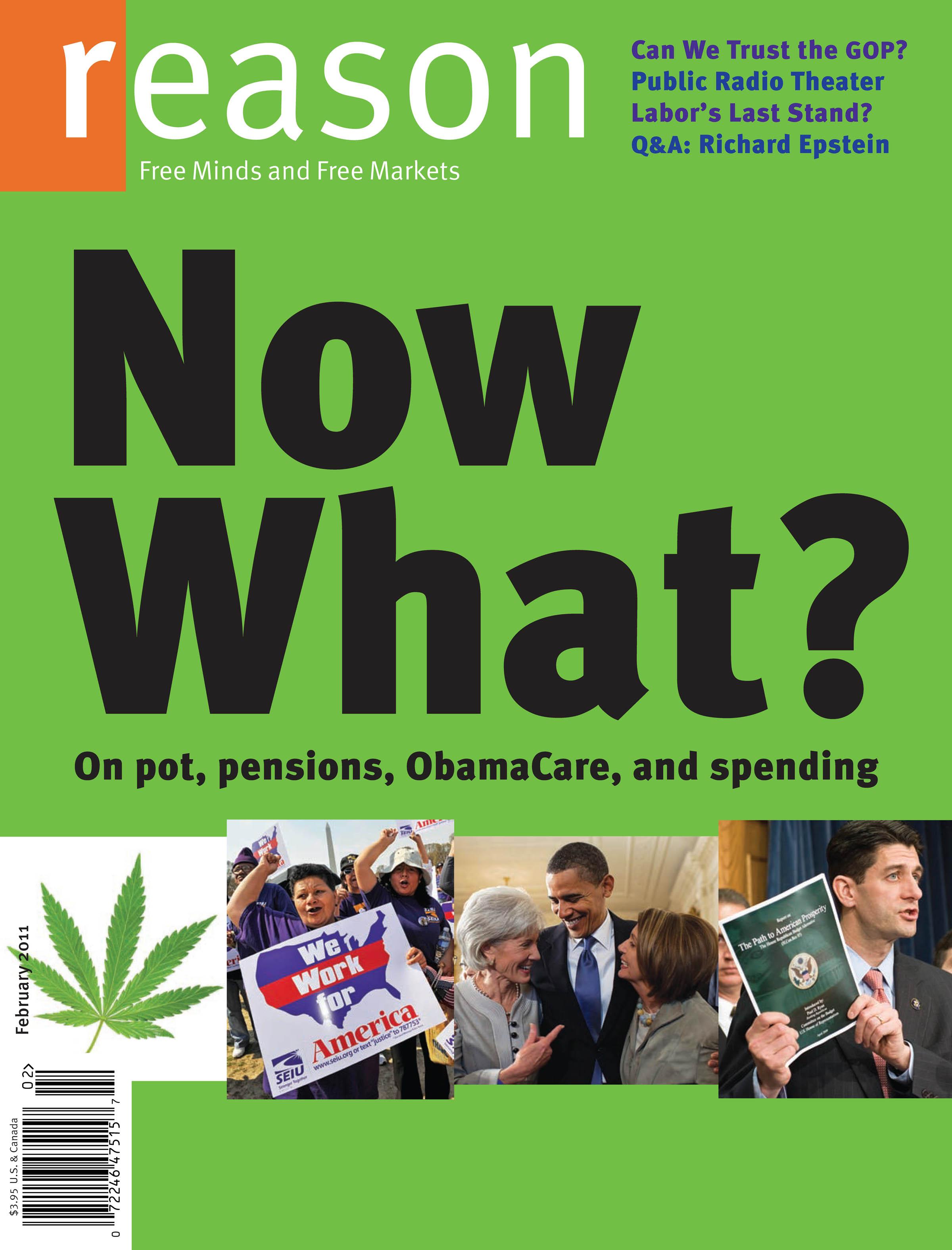 Reason Magazine, February 2011 cover image