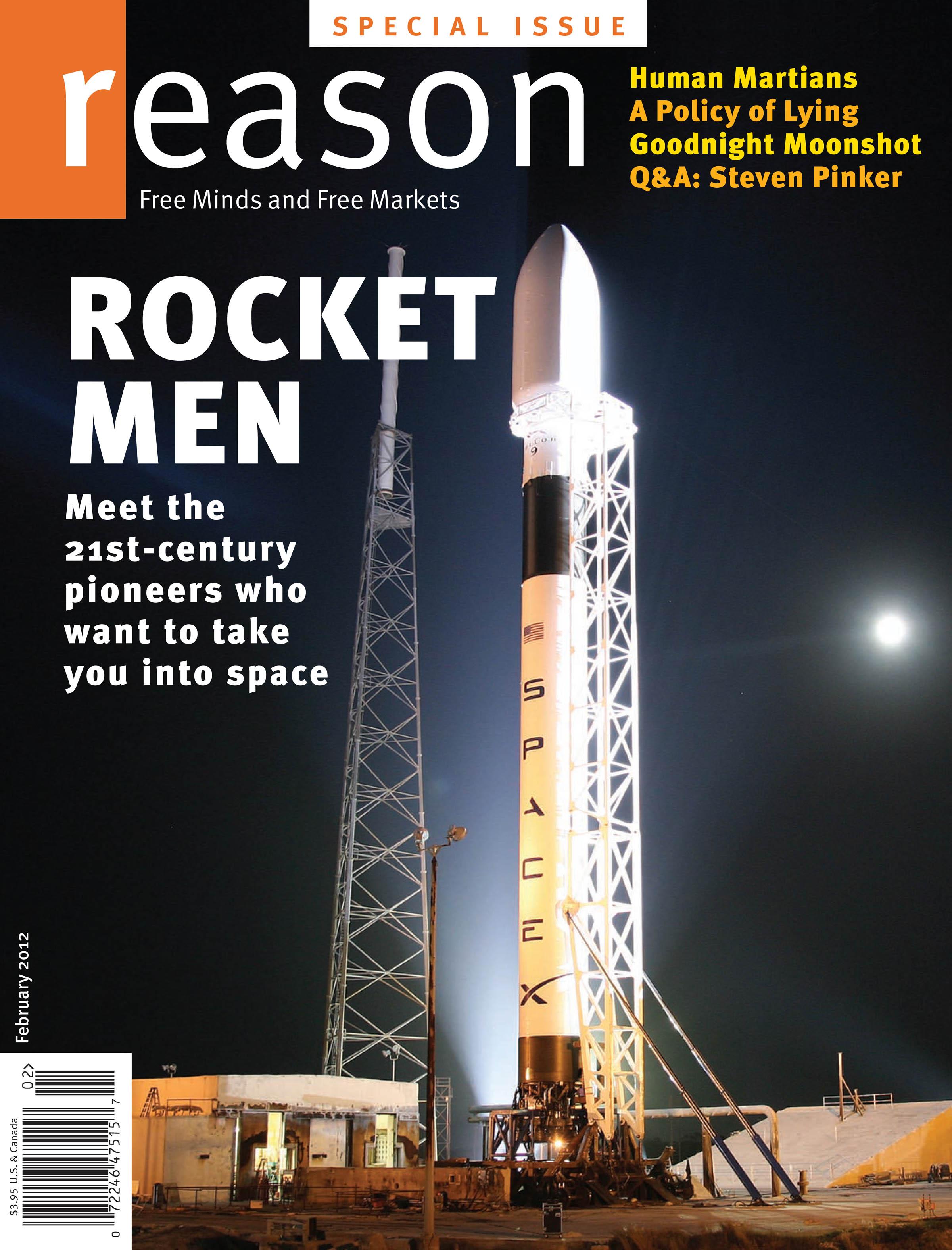 Reason Magazine, February 2012 cover image
