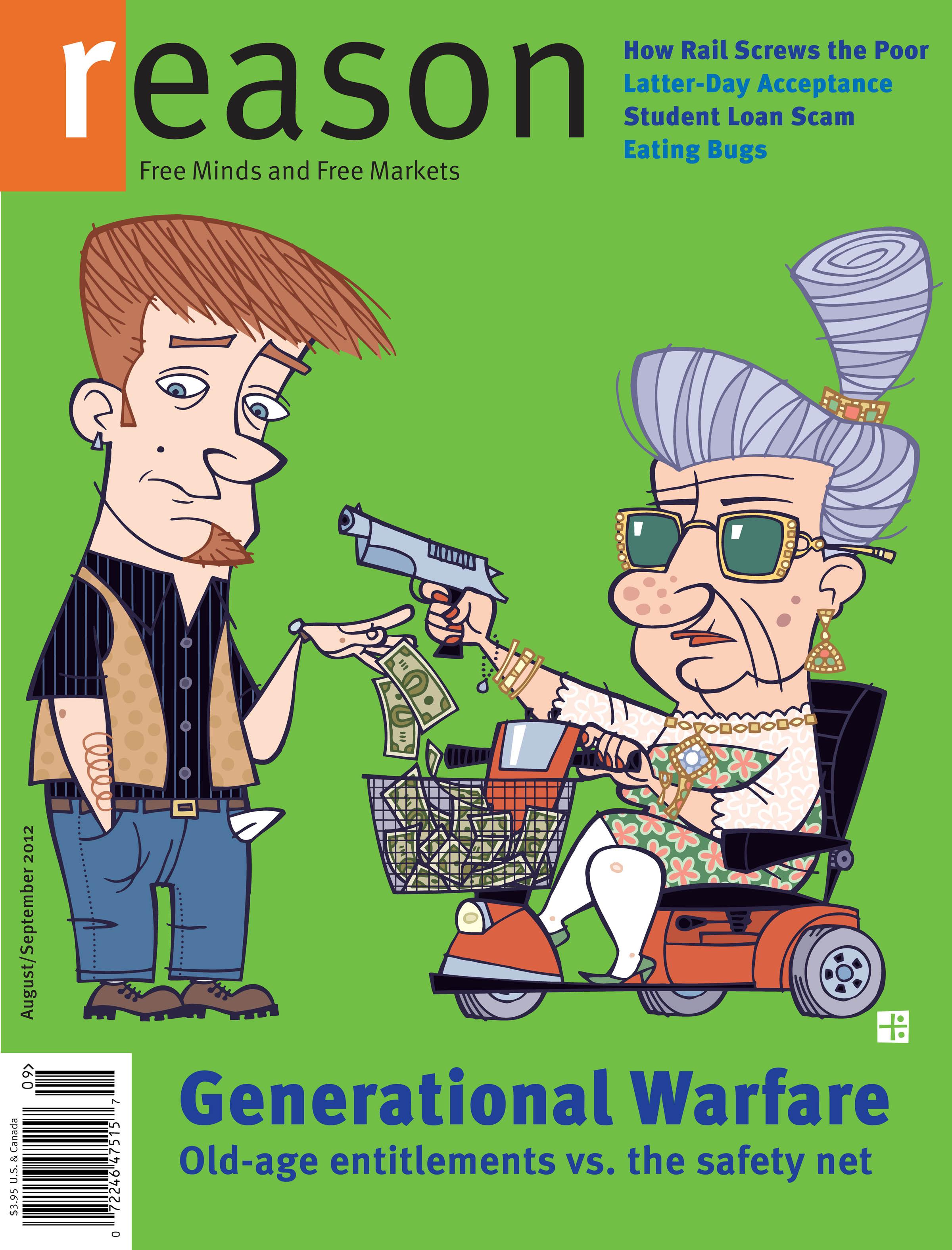 Reason Magazine, August/September 2012 cover image