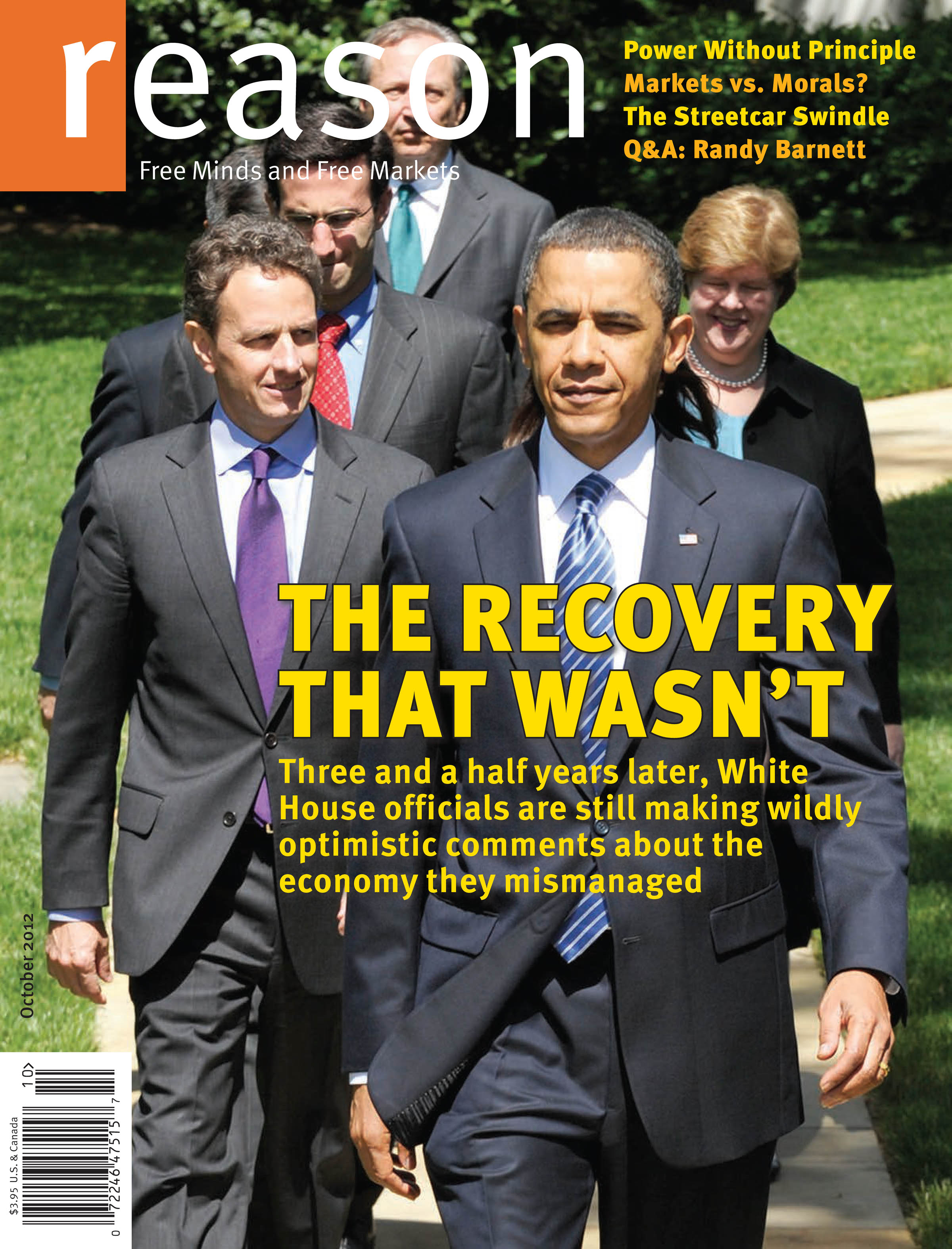Reason Magazine, October 2012 cover image
