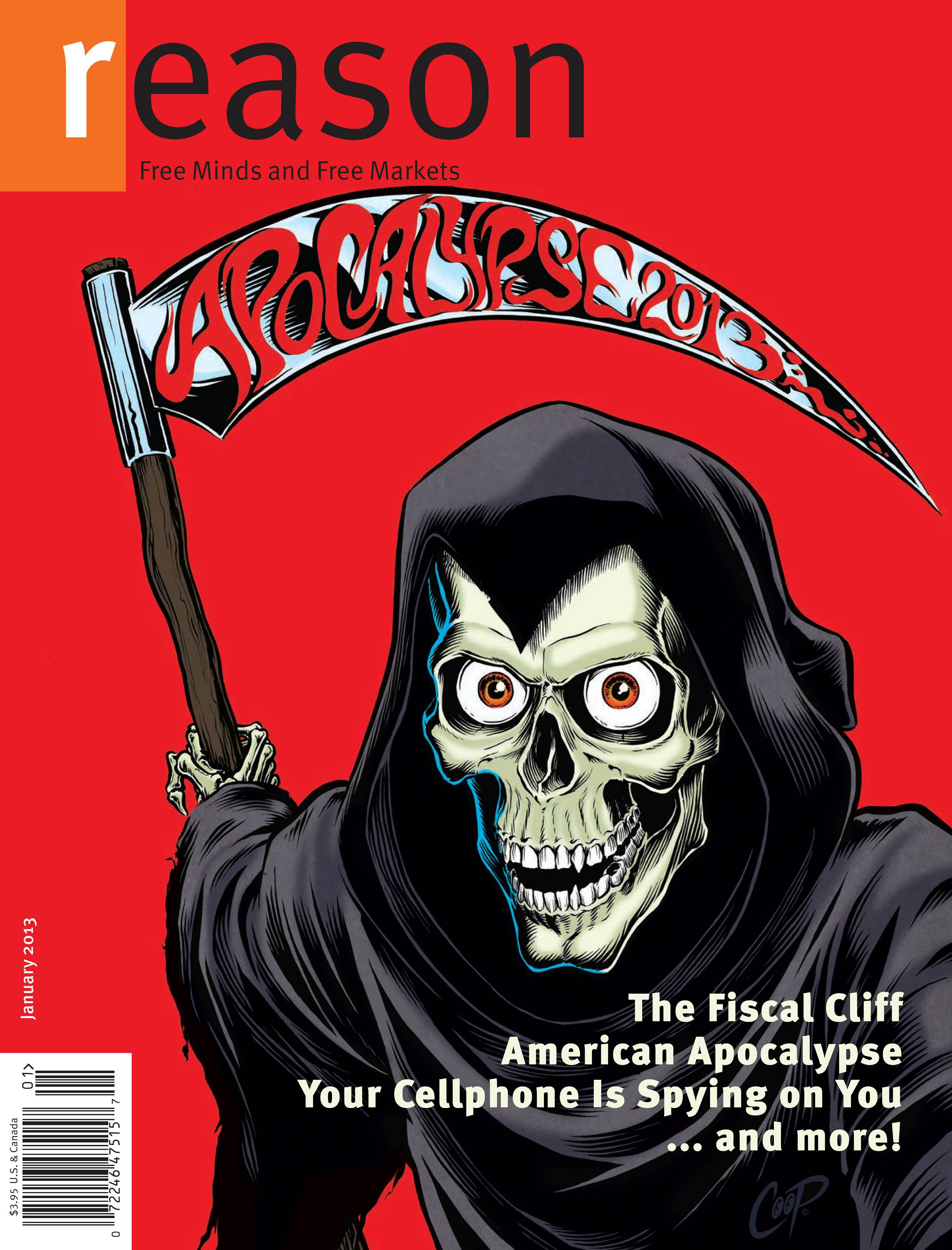 Reason Magazine, January 2013 cover image
