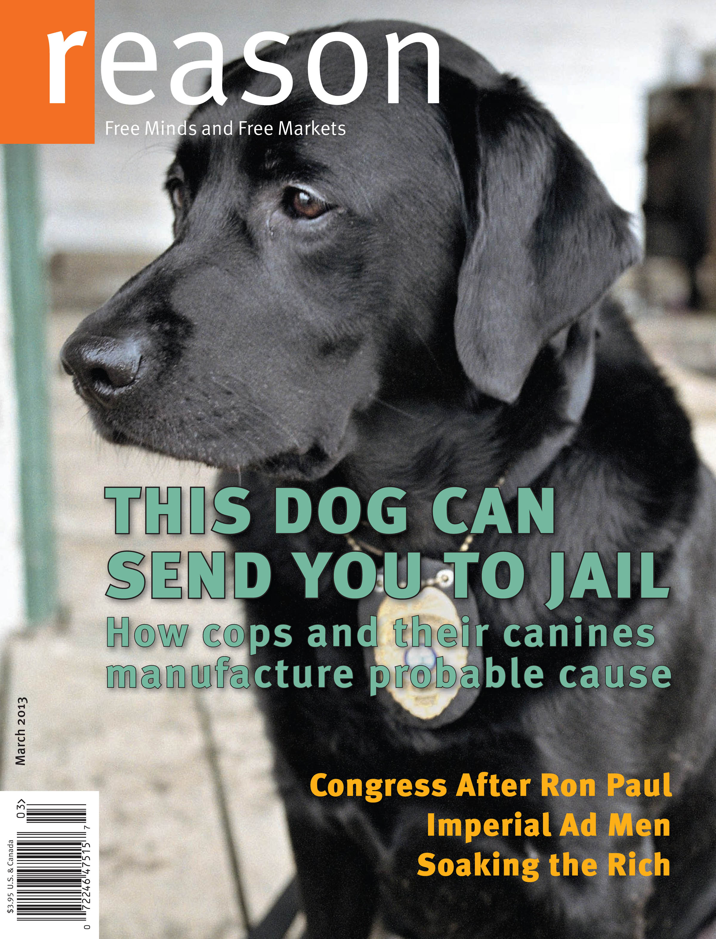 Reason Magazine, March 2013 cover image
