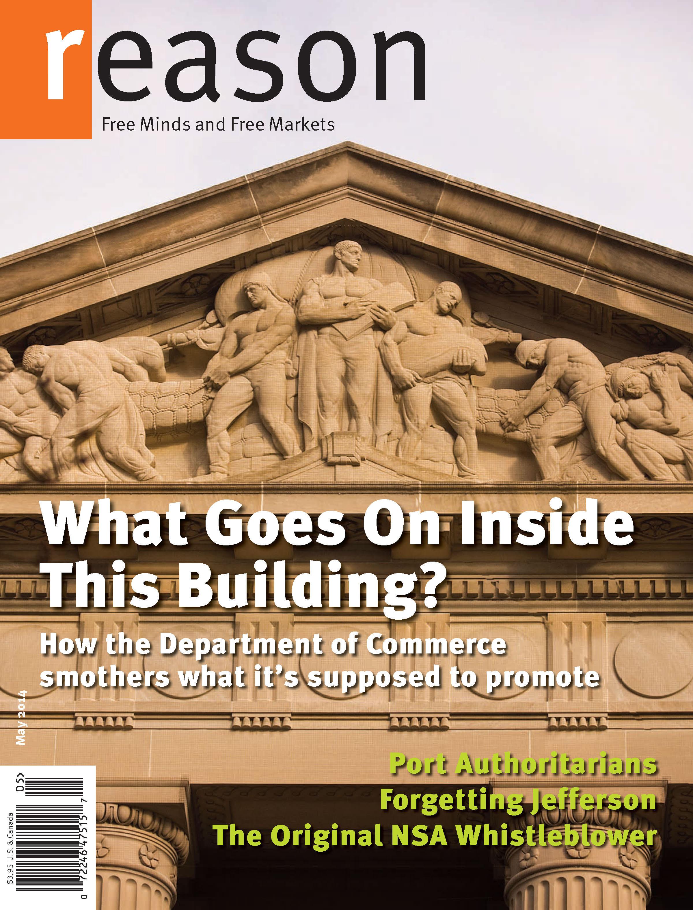 Reason Magazine, May 2014 cover image