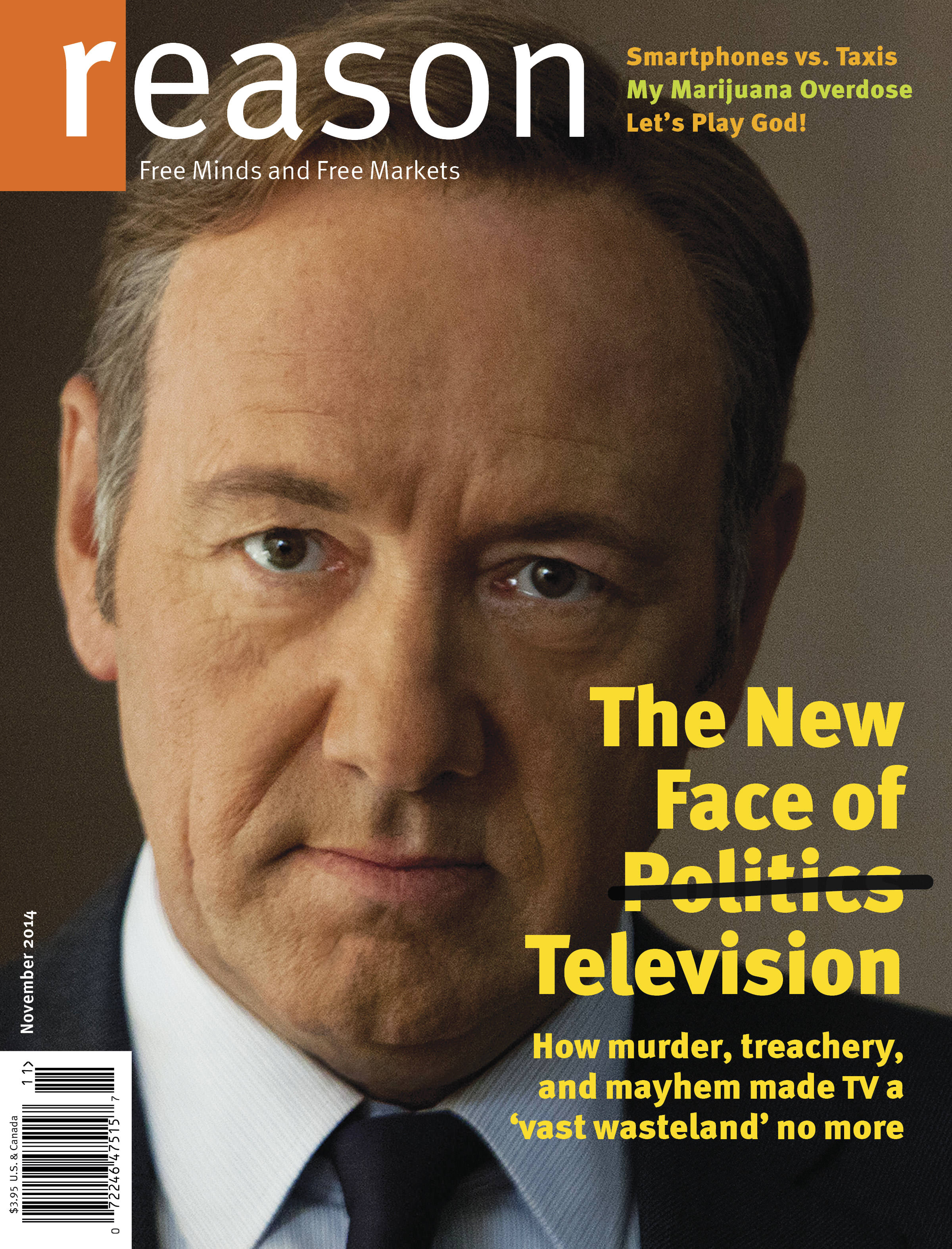 Reason Magazine, November 2014 cover image