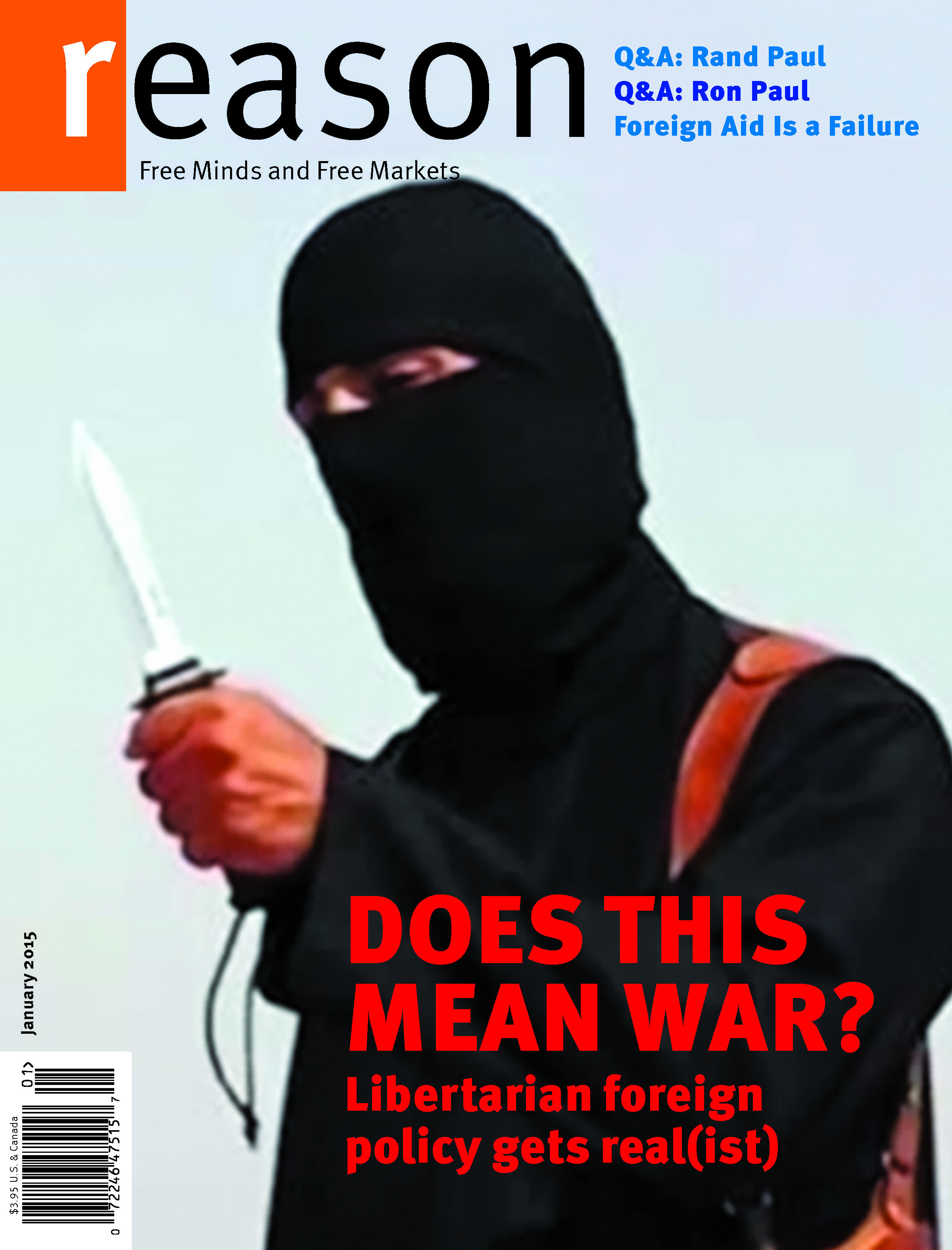 Reason Magazine, January 2015 cover image