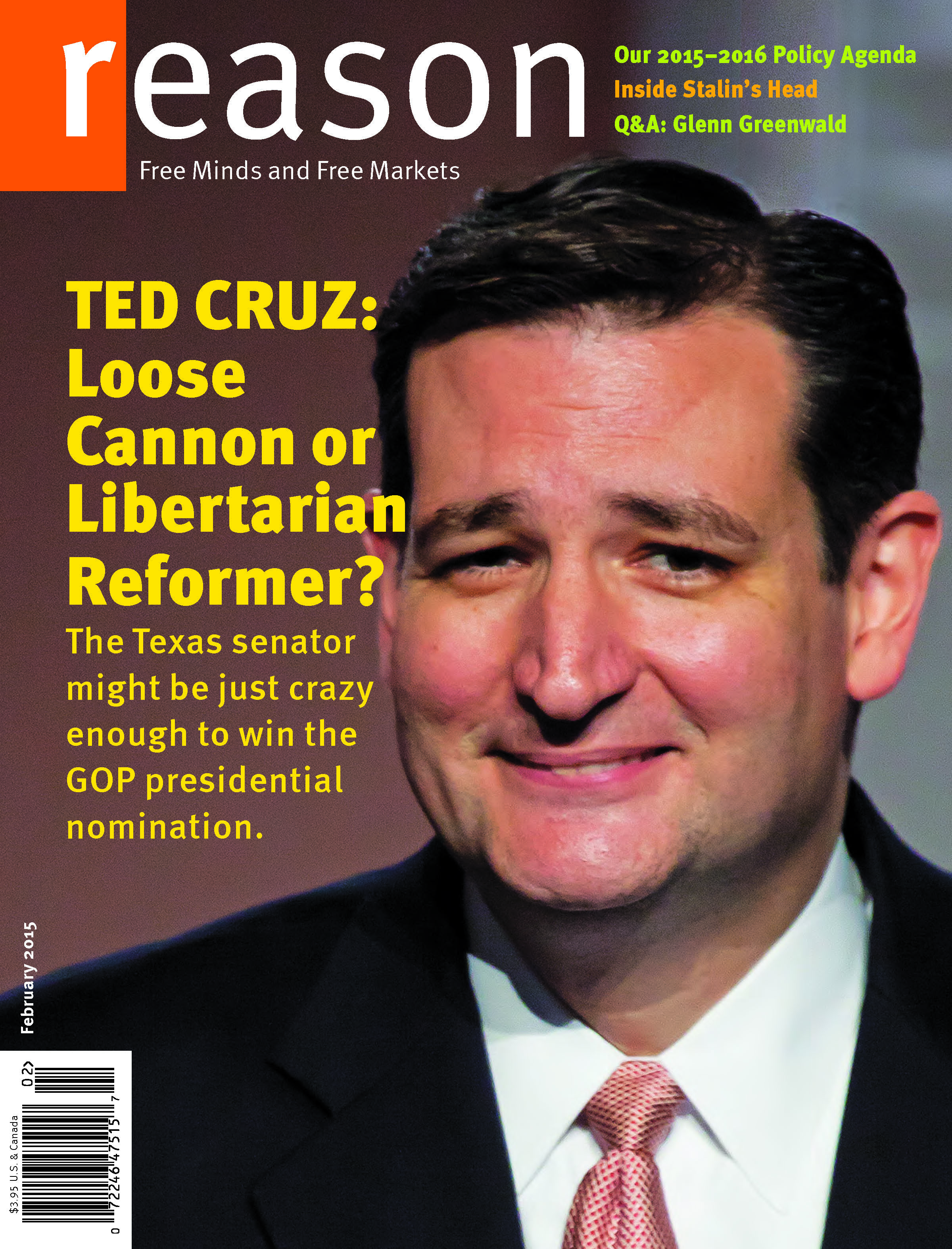 Reason Magazine, February 2015 cover image