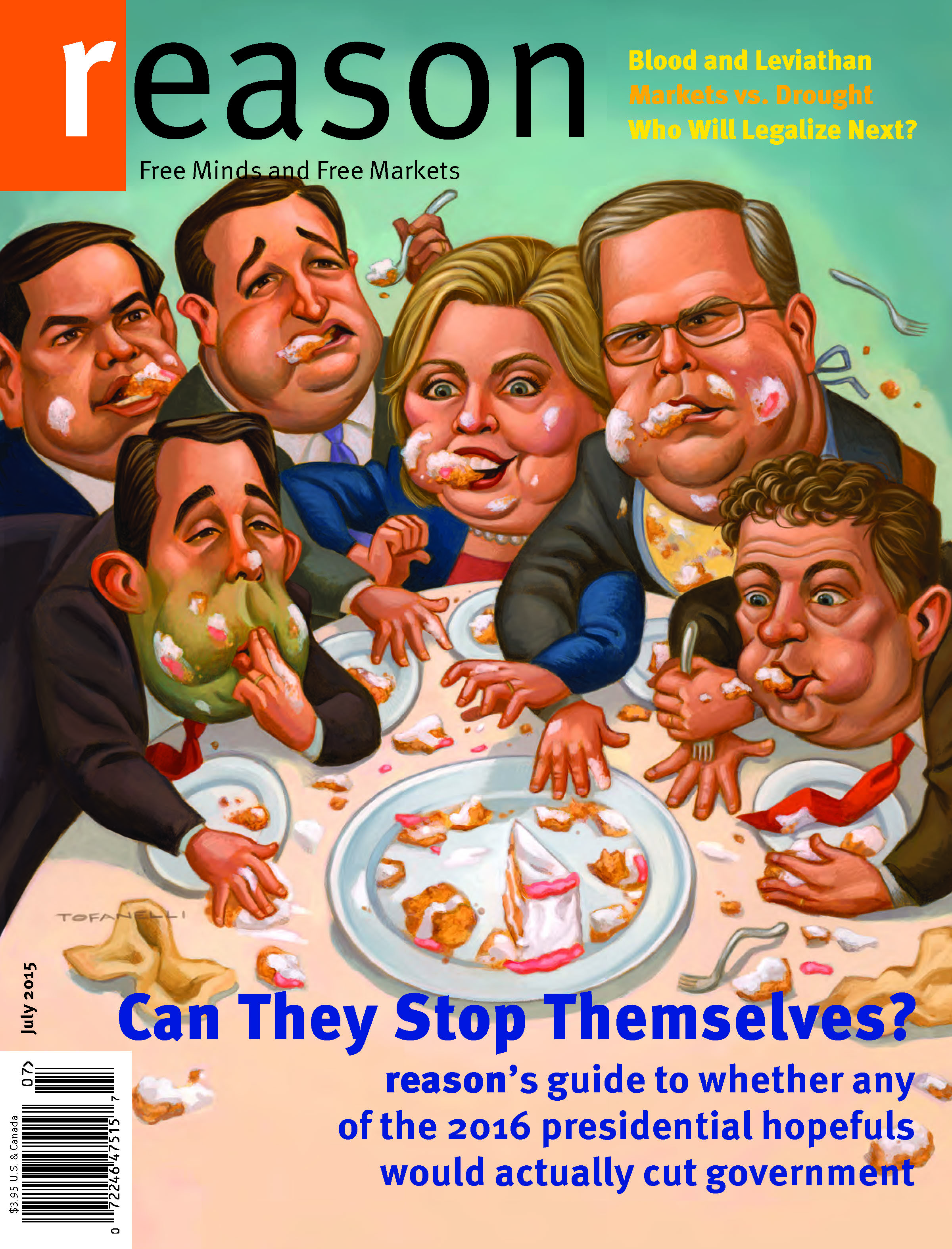 Reason Magazine, July 2015 cover image