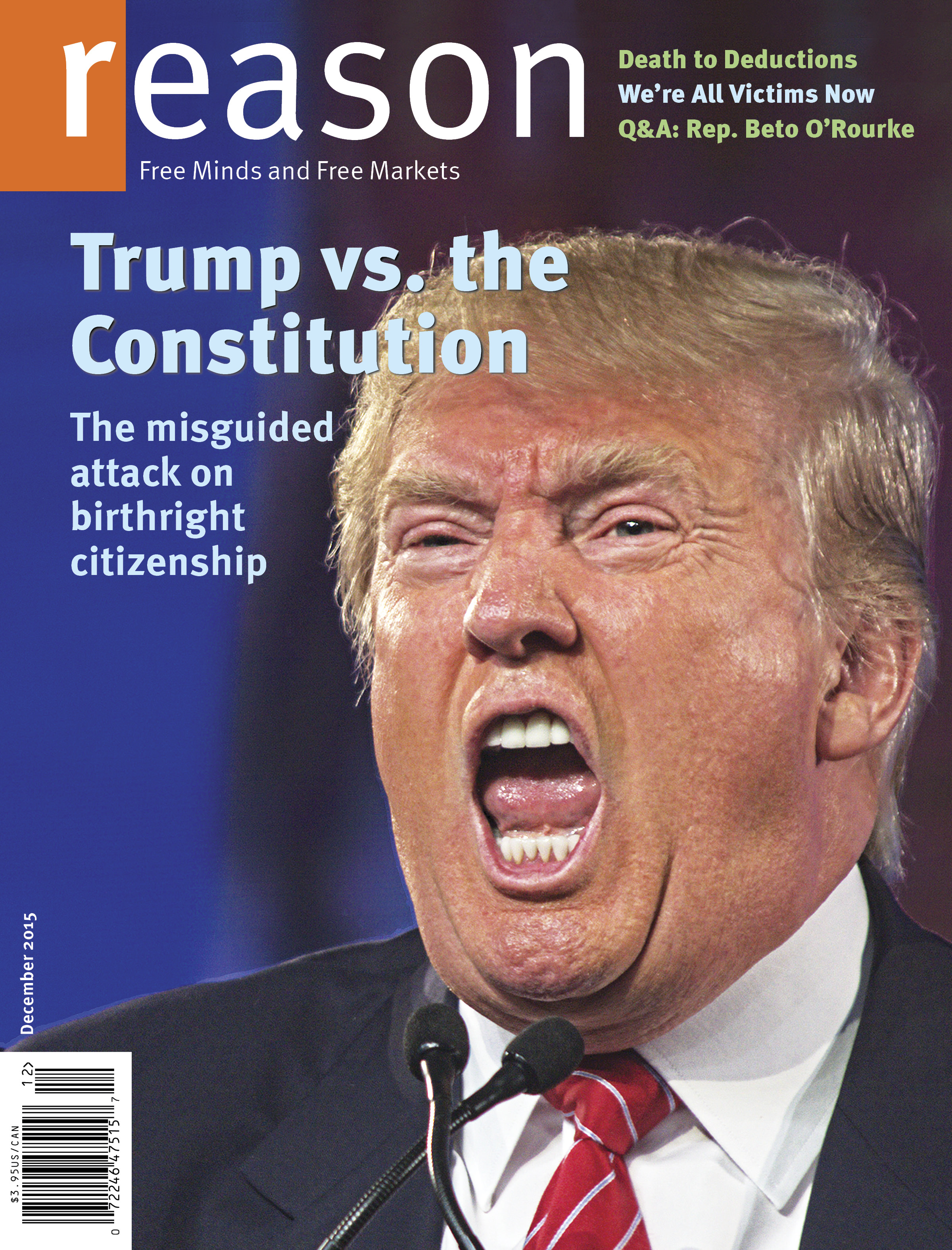 Reason Magazine, December 2015 cover image