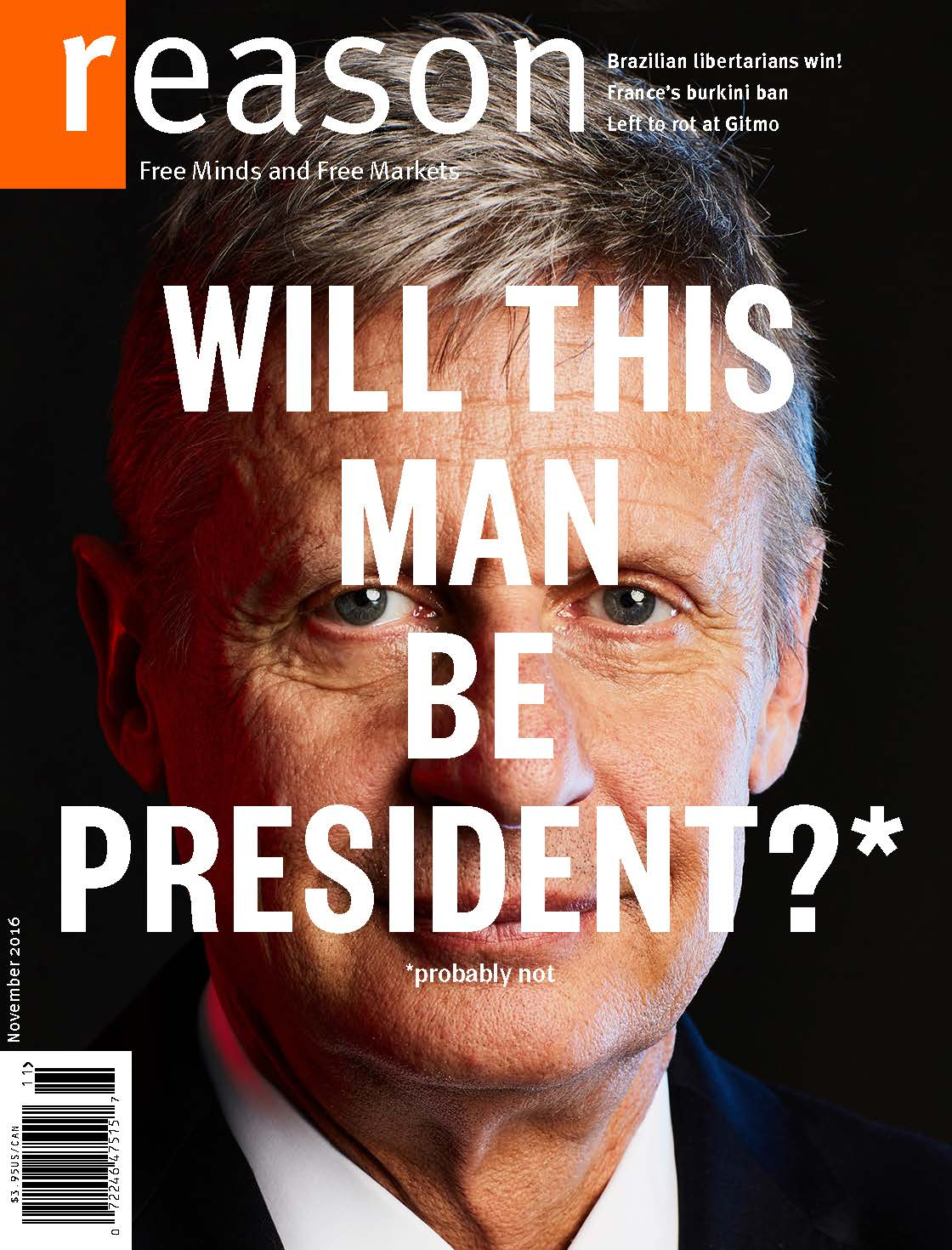Reason Magazine, November 2016 cover image