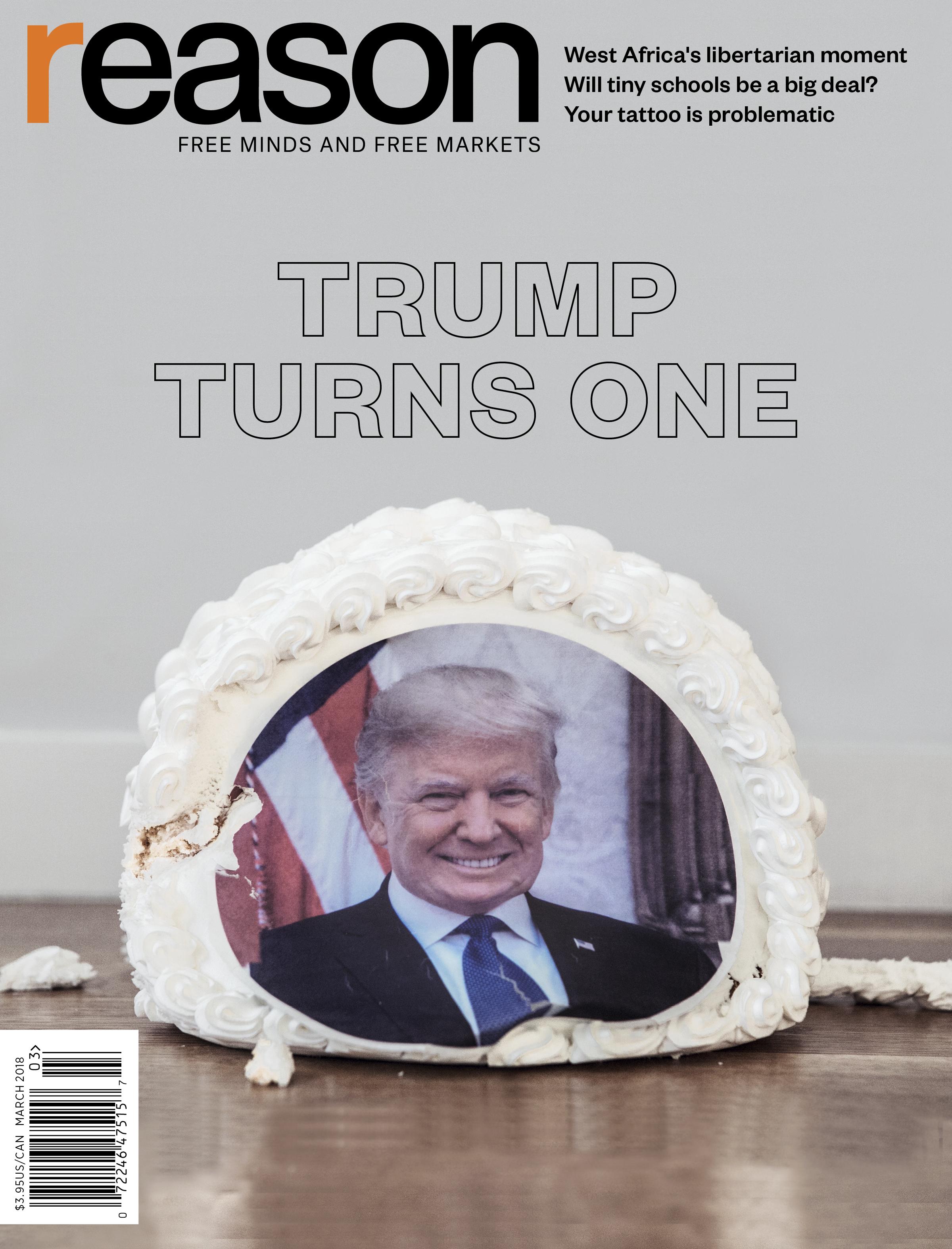 Reason Magazine, March 2018 cover image