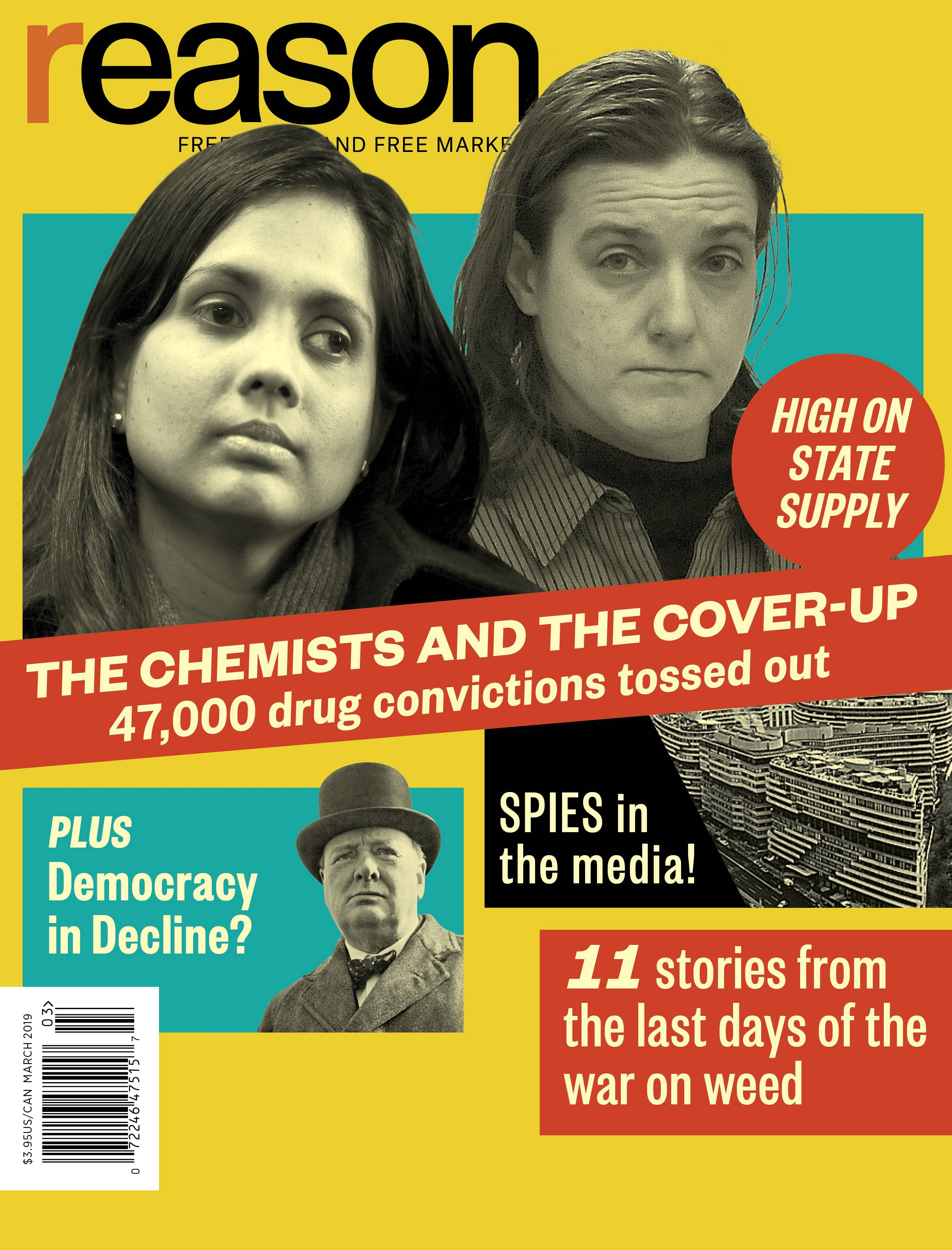 Reason Magazine, March 2019 cover image