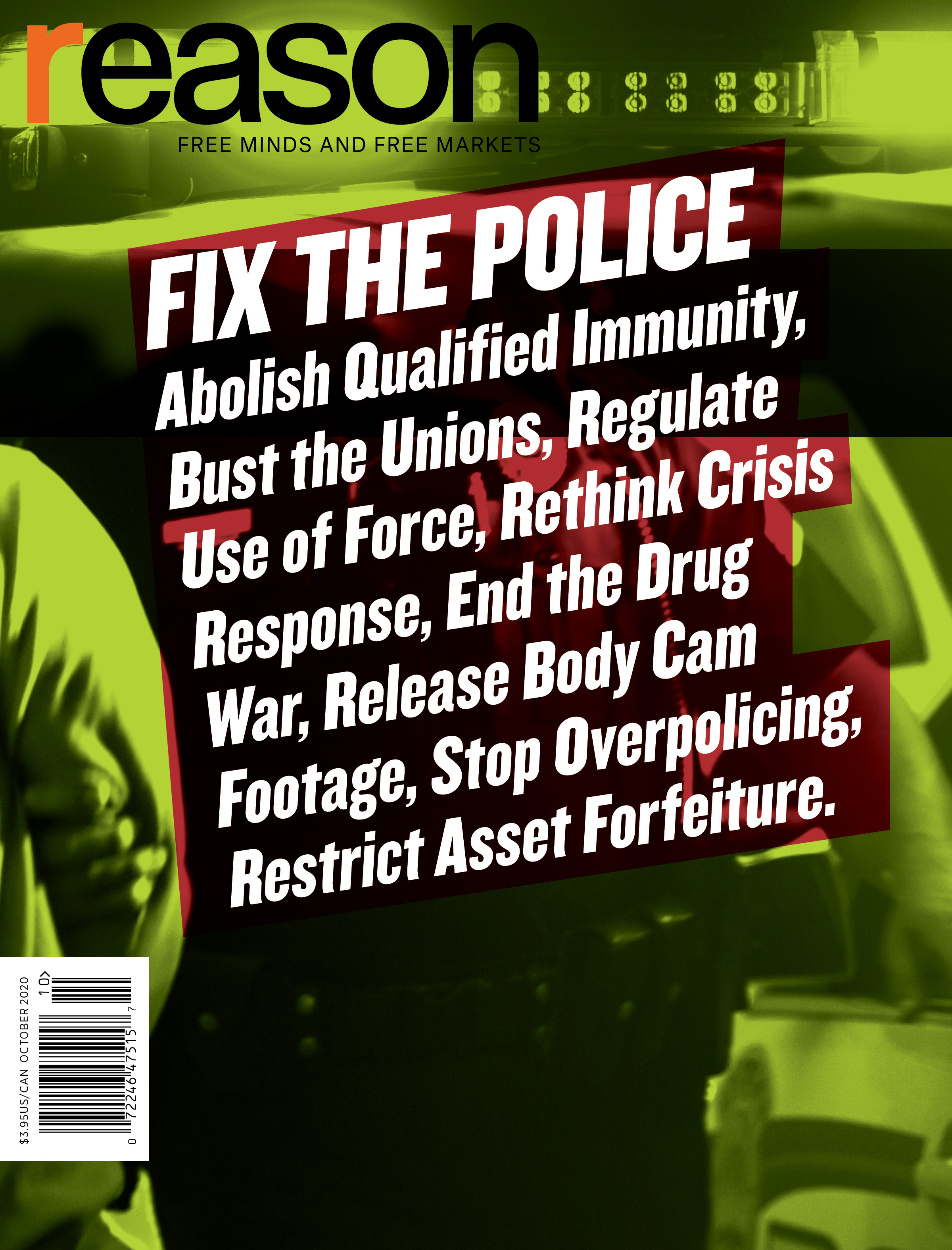Reason Magazine, October 2020 cover image