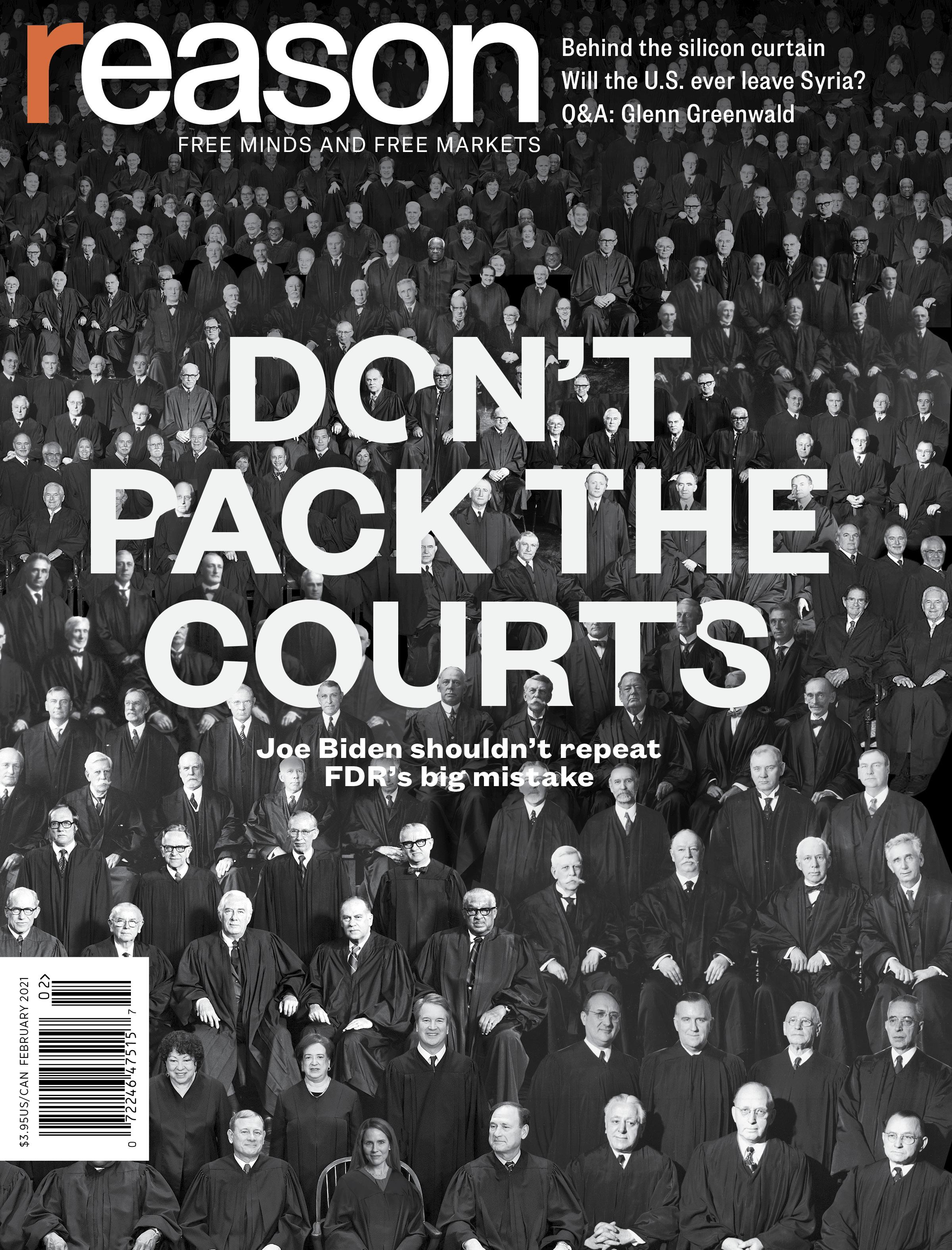 Reason Magazine, February 2021 cover image