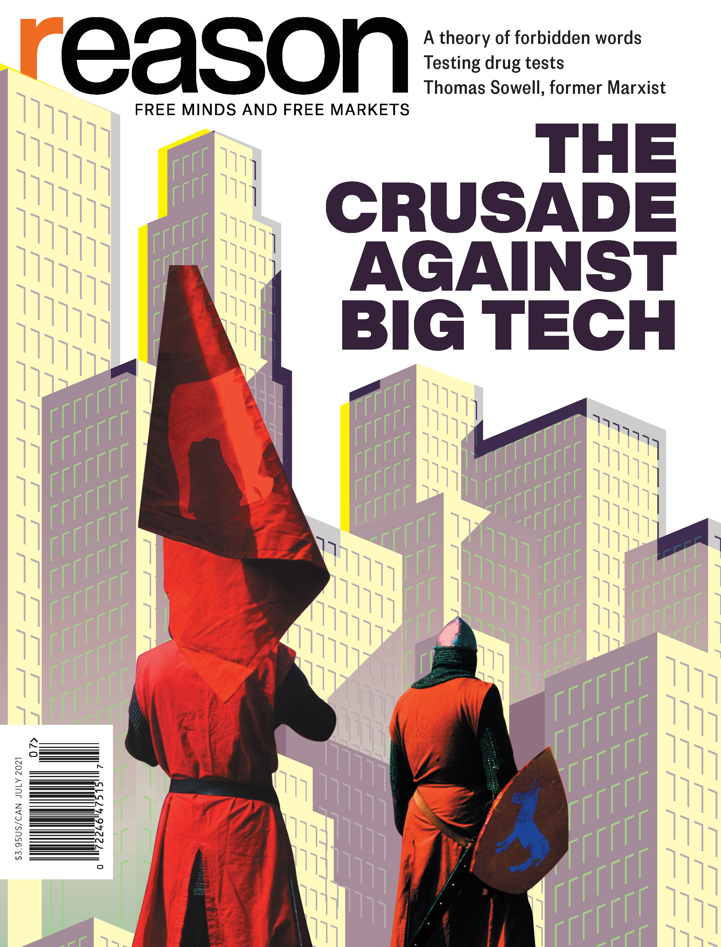 Reason Magazine, July 2021 cover image