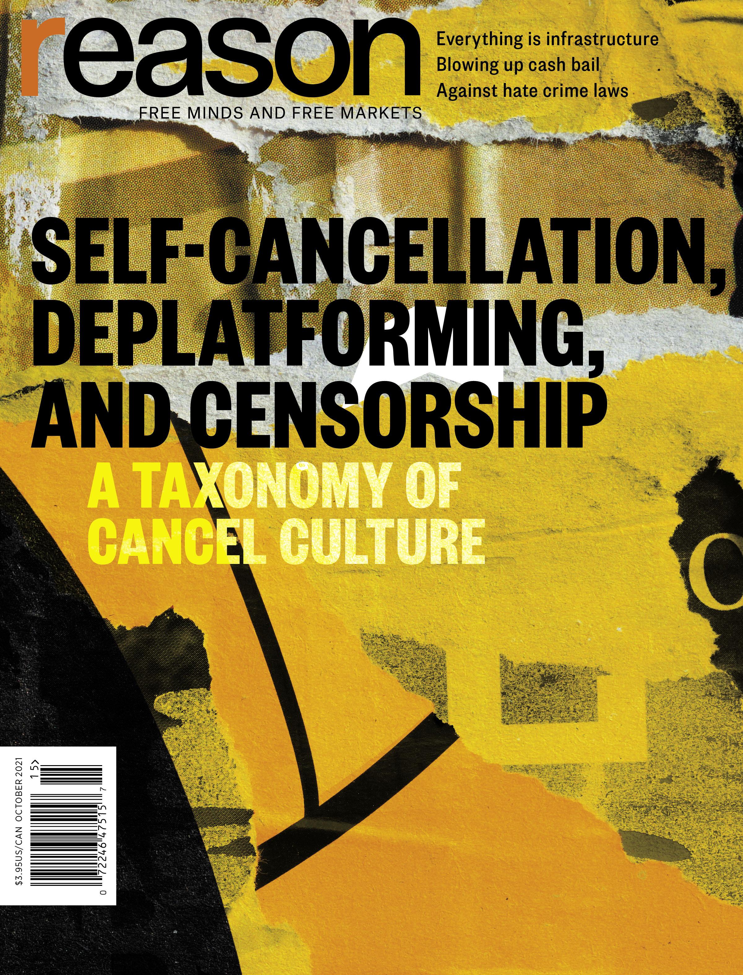 Reason Magazine, October 2021 cover image